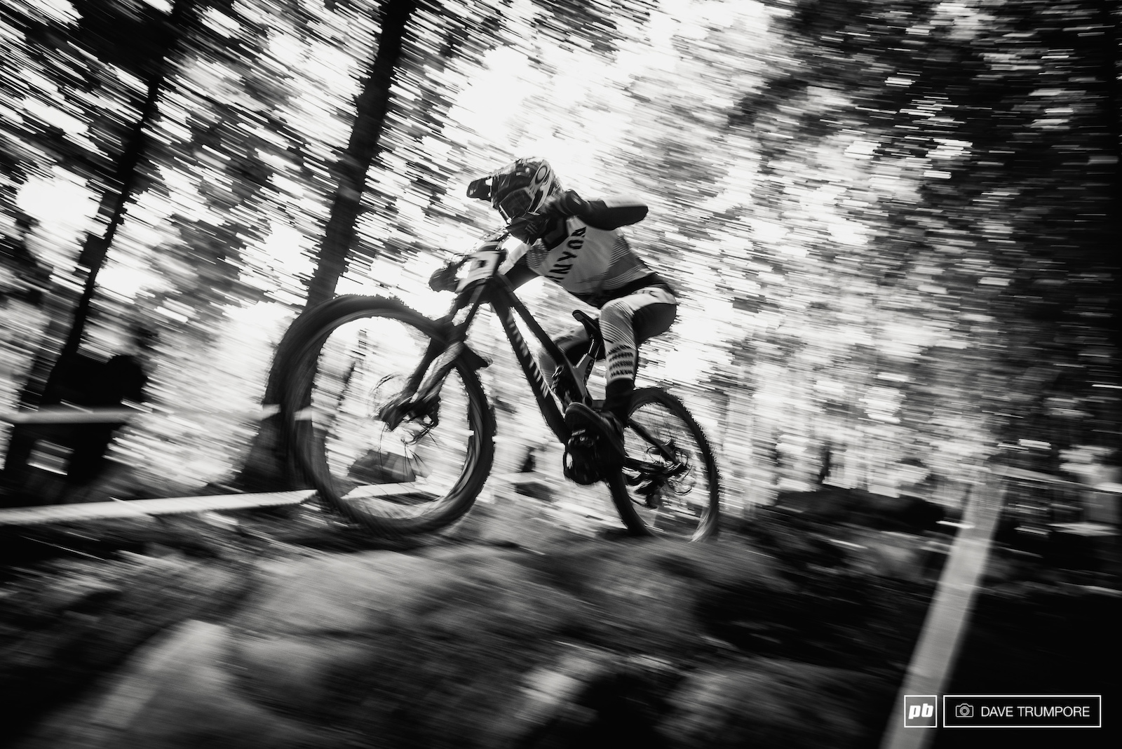 Troy Brosnan at warp speed through the lower woods.
