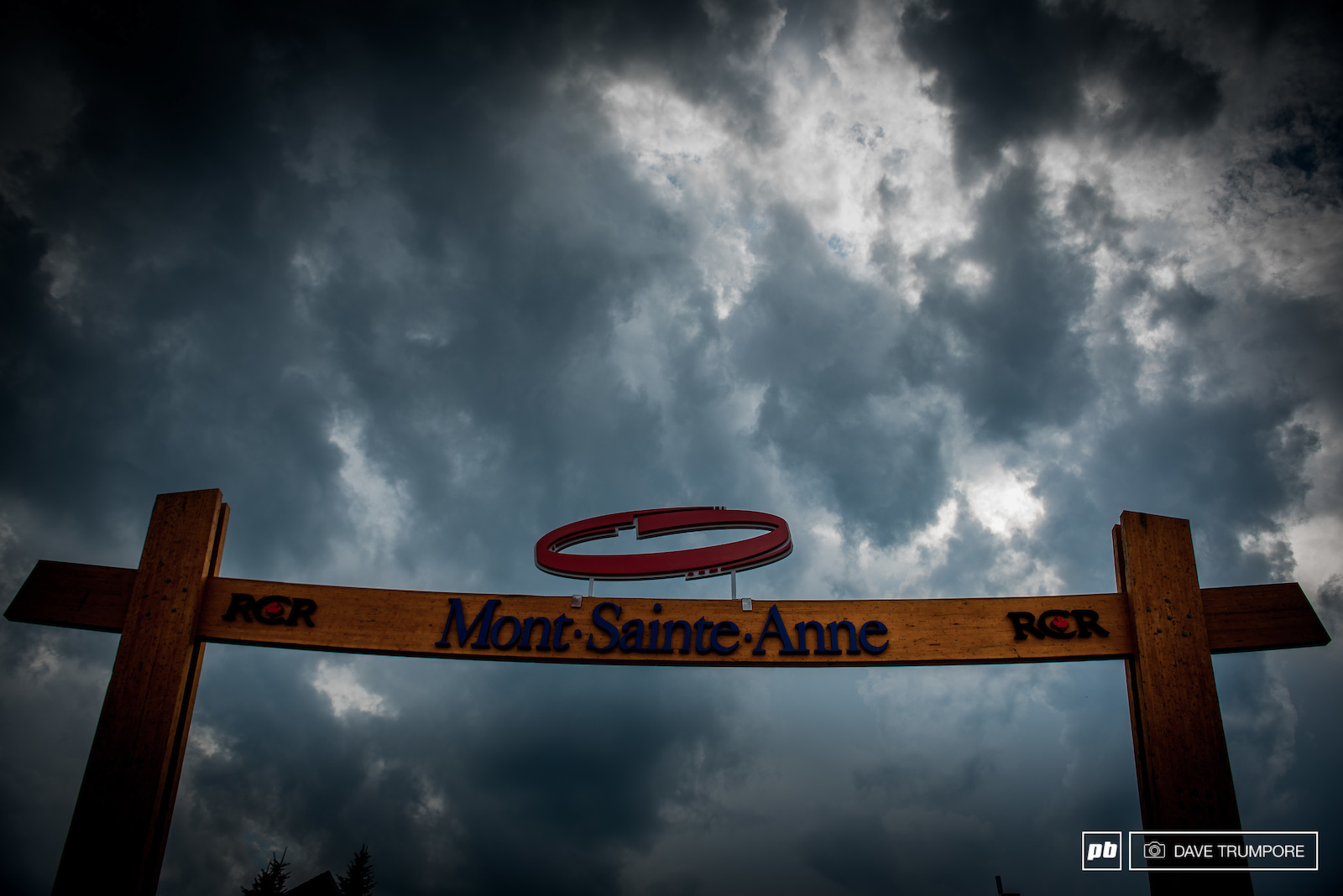 The skies are looking a bit ominous here in Mont Sainte Anne.