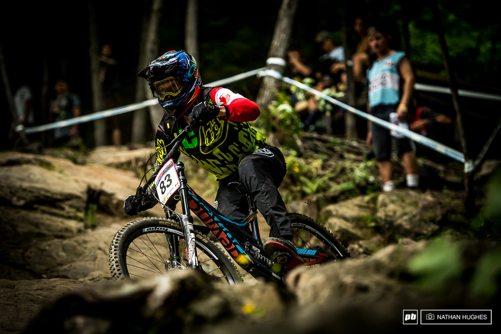 The Canadian DH boss Kirk McDowall pulling out a solid 25th here on home soil... or should we say home rock .