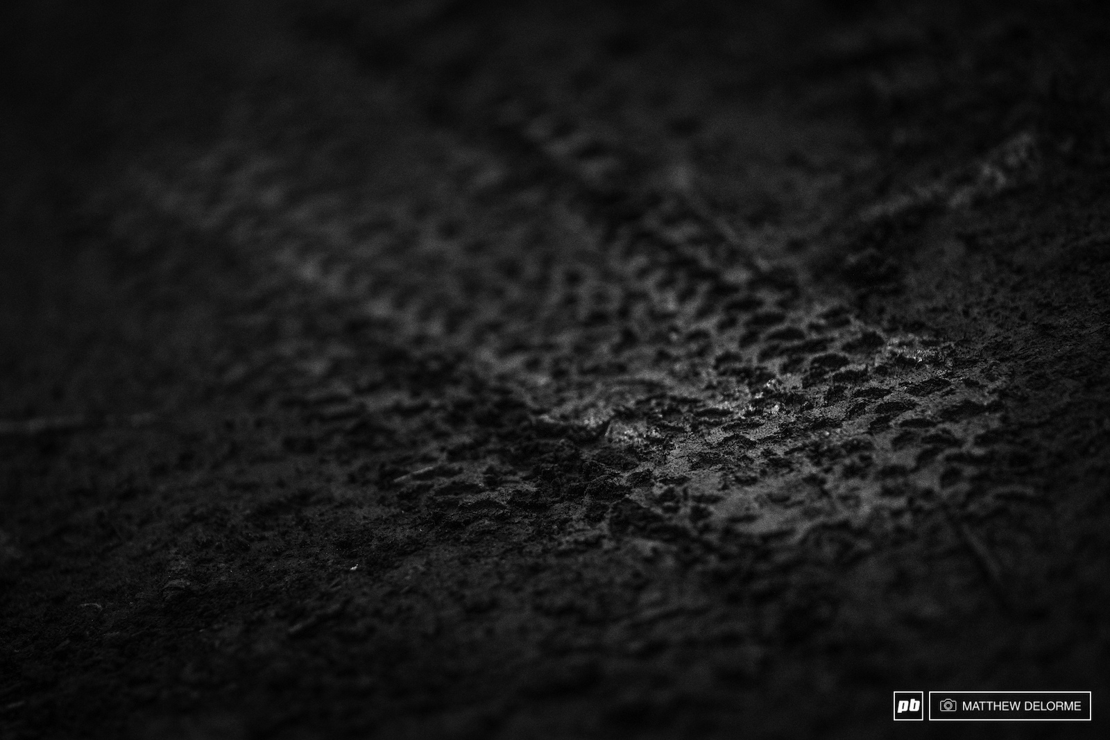 It was dusty earlier in the week but in traditional MSA fashion tires are leaving imprints int he mud.