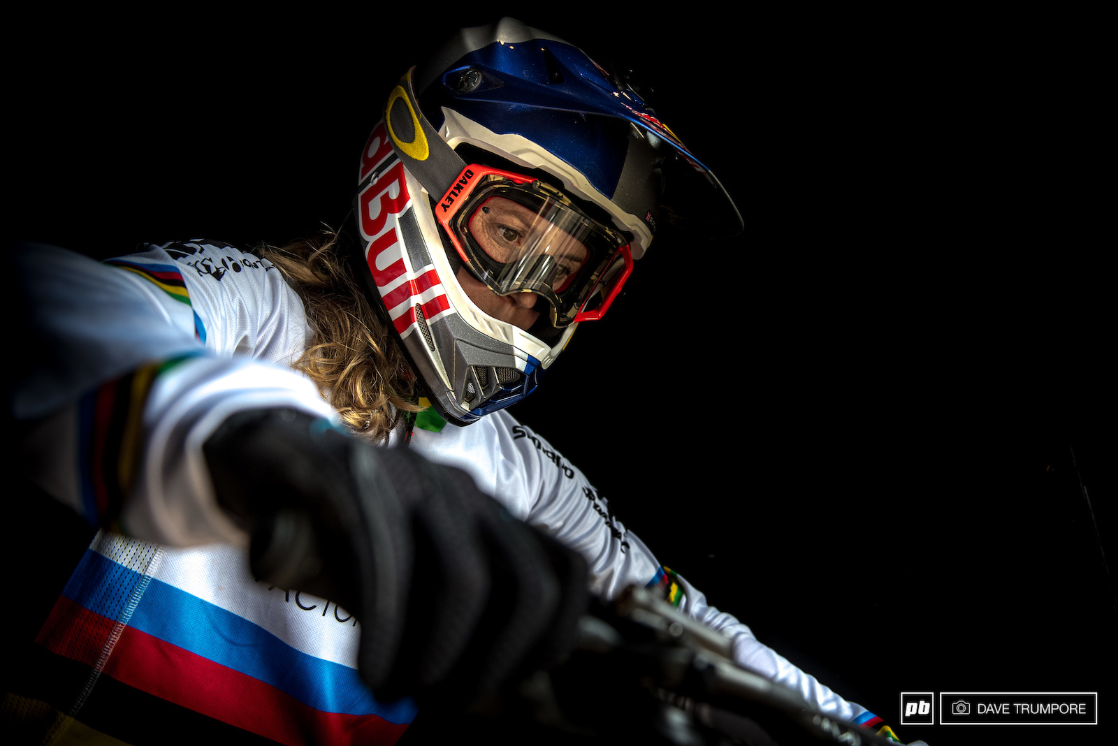 Rachel Atherton calms the nerves before taking the plunge into the beats of a track in MSA.