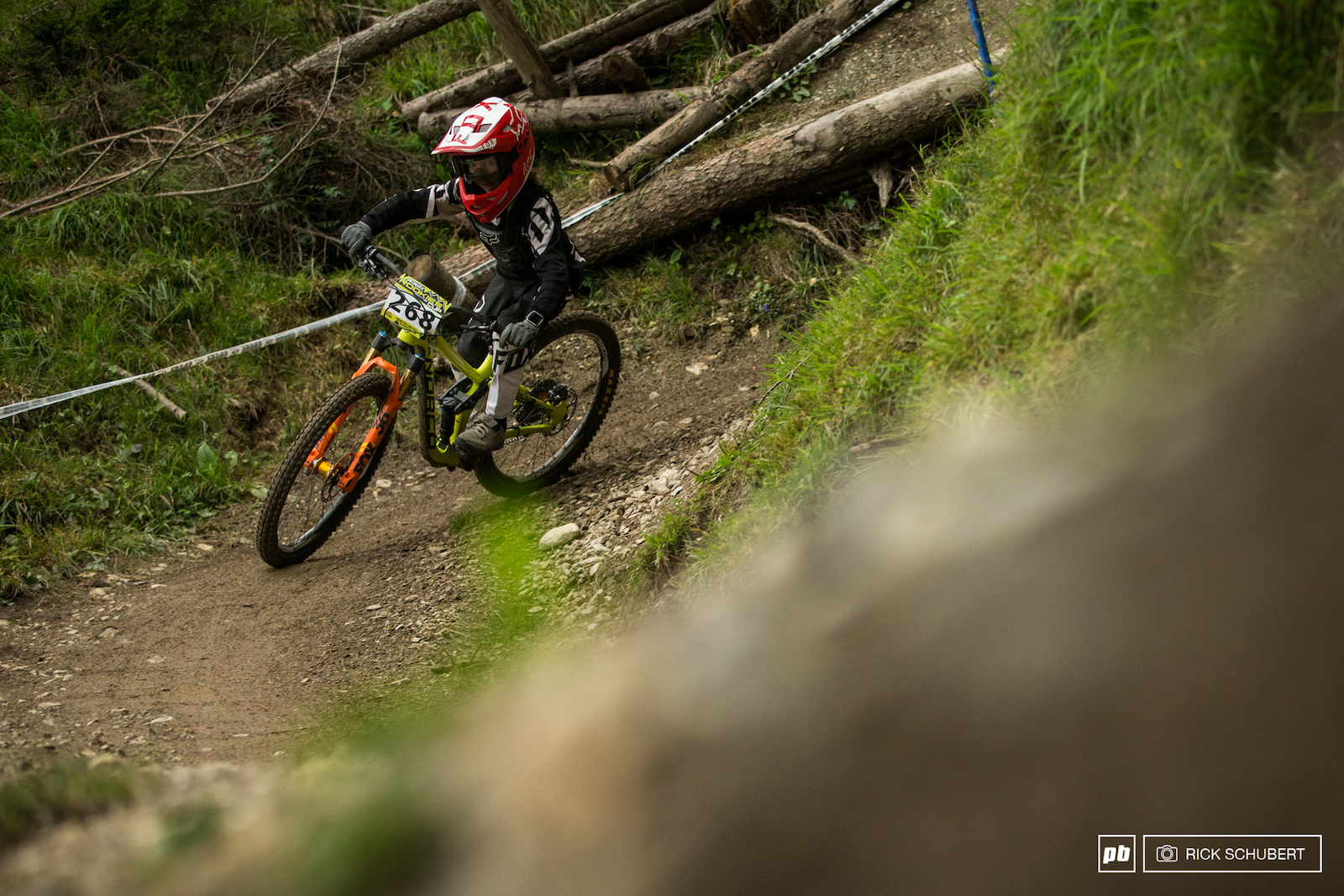 Jackson Goldstone put in the effort riding countless runs in the early practise session