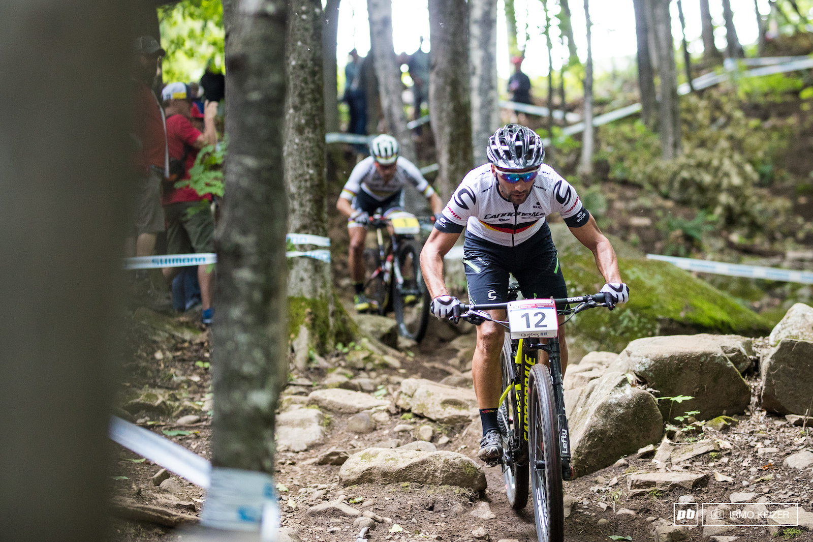 Manuel Fumic took the gamble and overtook Nino Schurter. Flat out. Schurter overtook him shortly after. Fumic finished in 6th.
