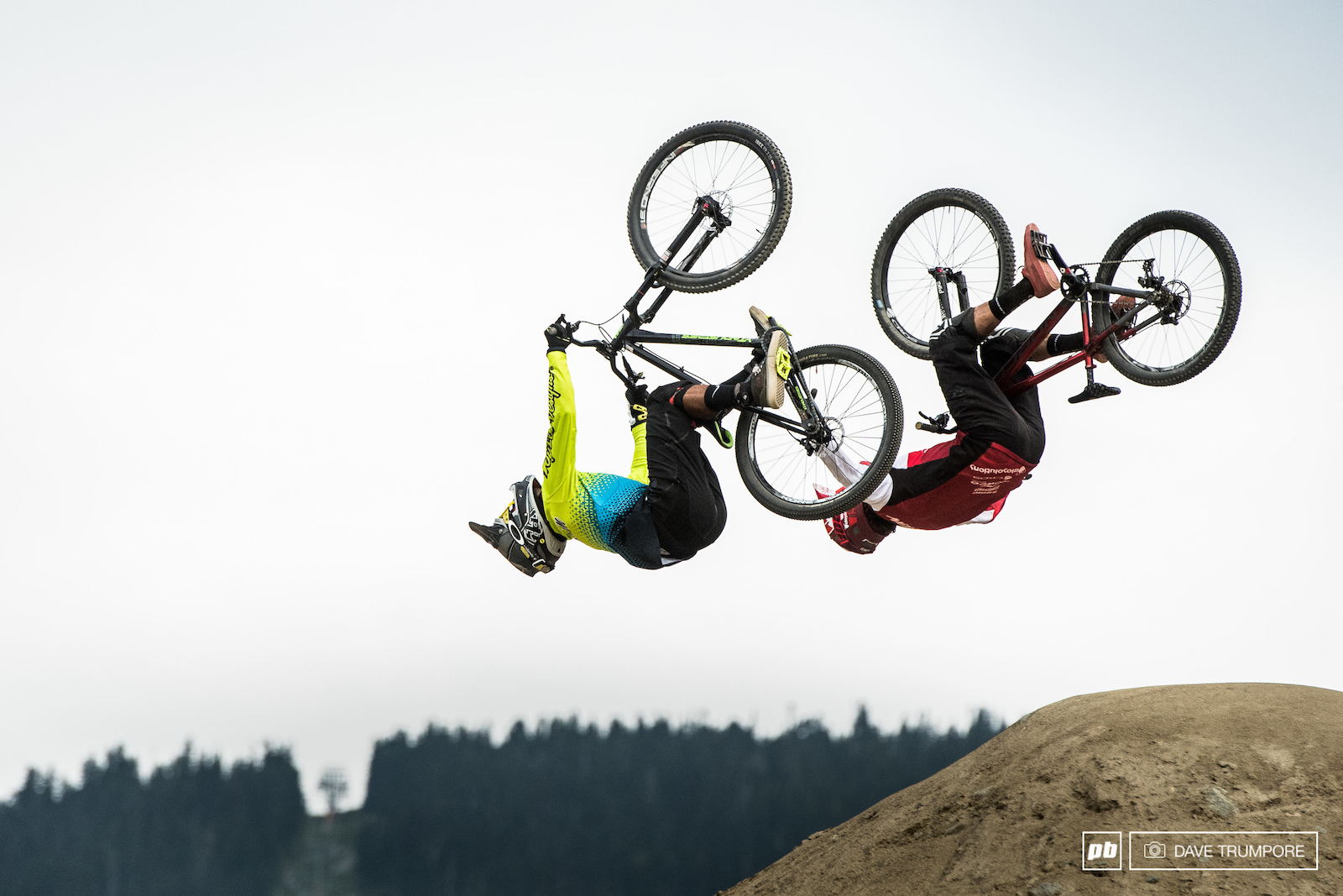 Synchronized flipping from Austin Warren and Adrien Loron.