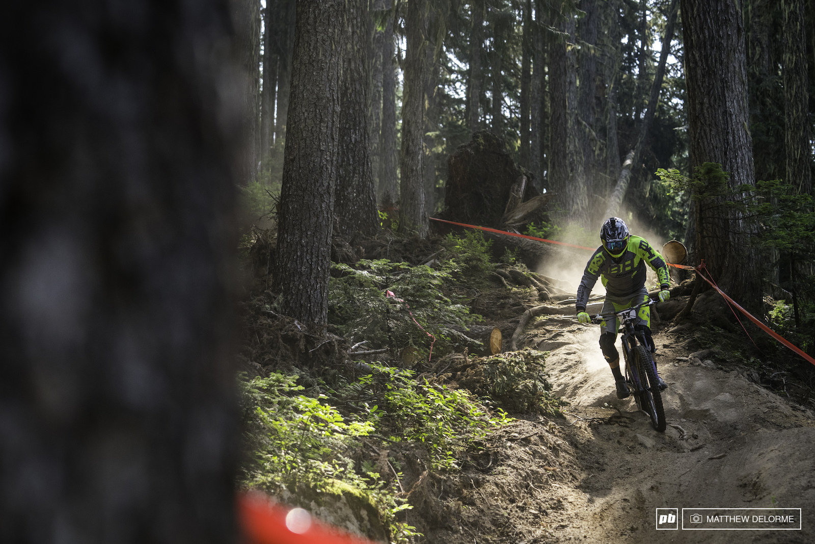 Alex Cure had a hard time in the dust of Aspen but if we get a little rain he could do well here in Whistler.