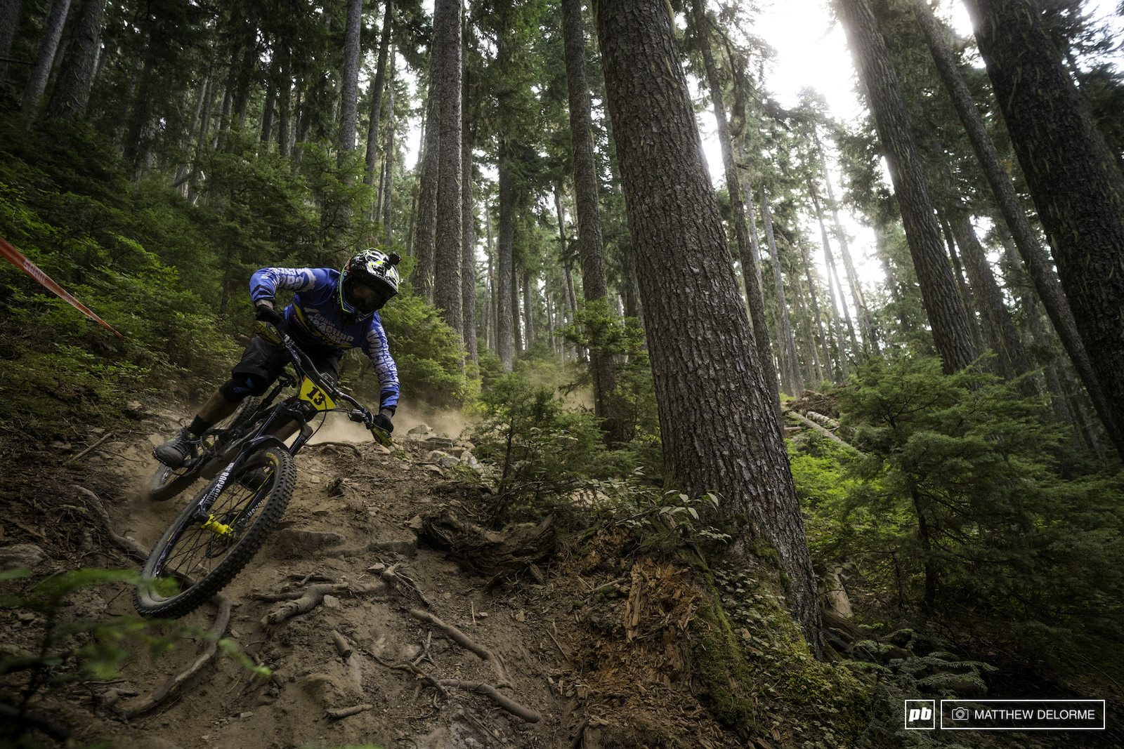 Sam Hill looking uncannily fast on the steeps of RDS.