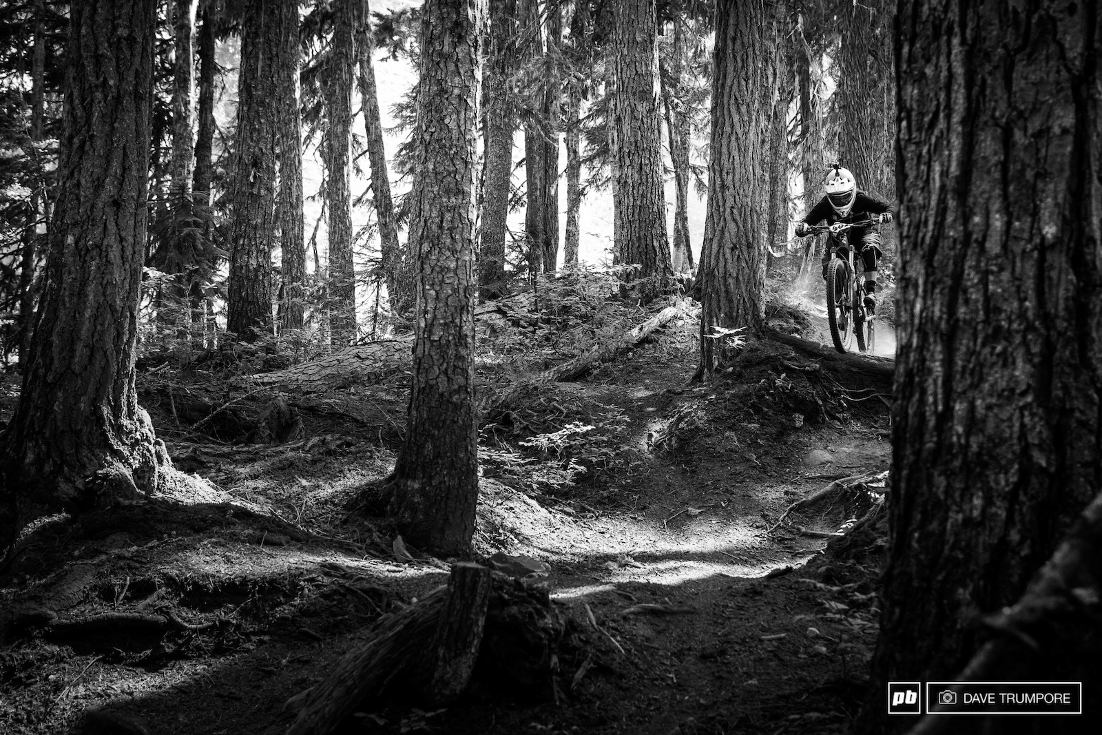 Noga Korem floats through the steep loam on the freshly rebuilt classic Ride Don t Slide.