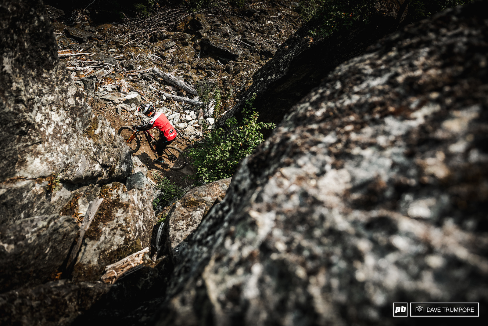 Seb Claquin through one of the many boulder fields on stage 4.