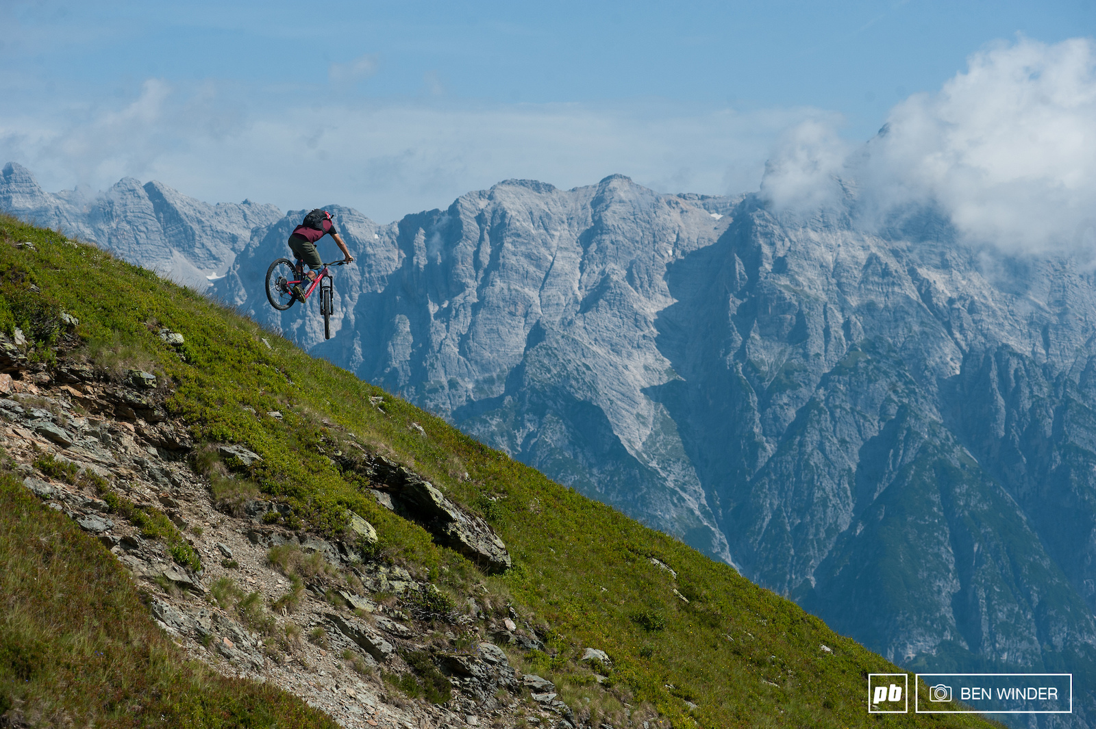 After a short pedal from the top of the lift you drop into Leogang.