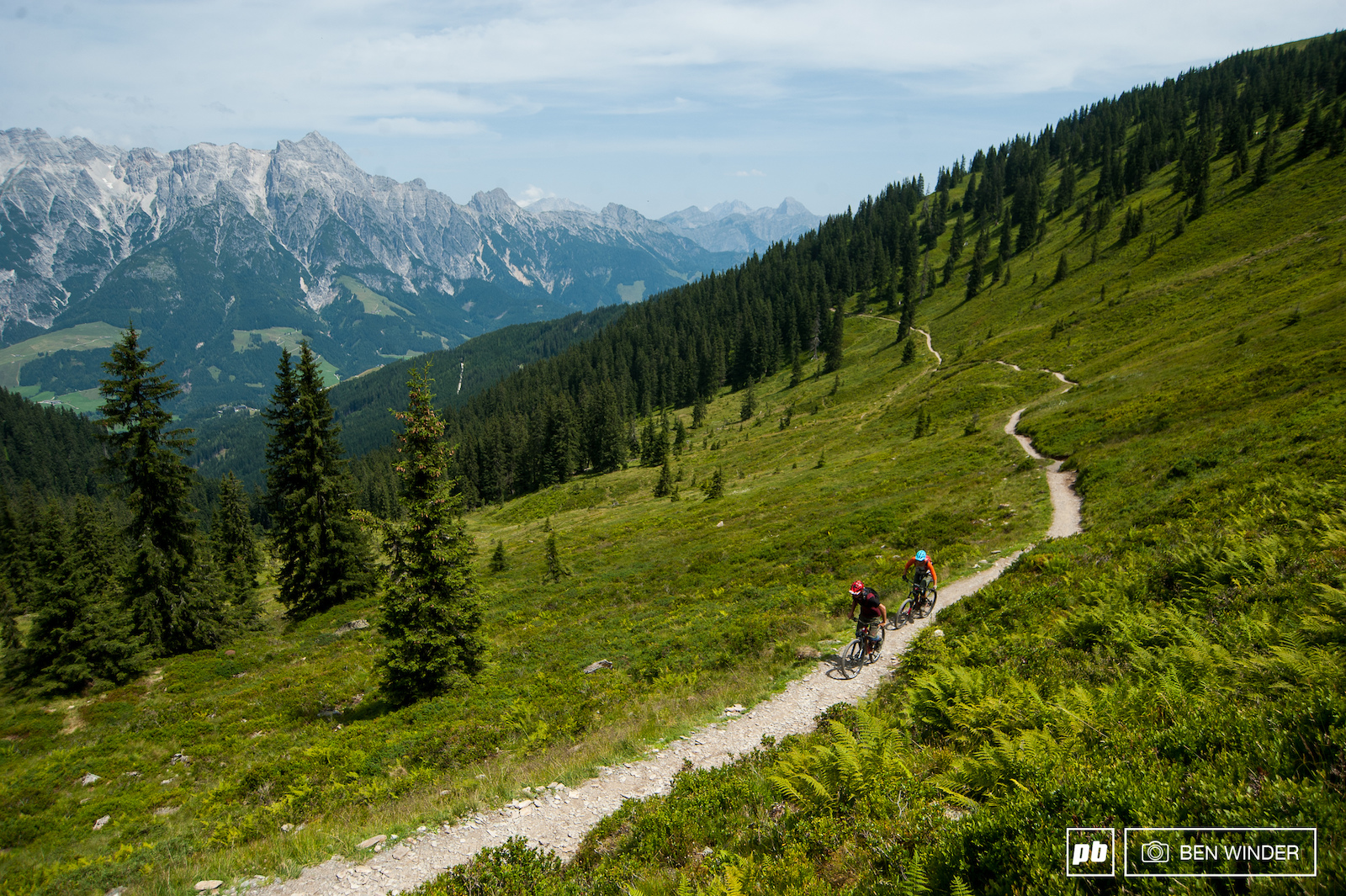 After one run we headed back over towards Saalbach along a fun section of trail.