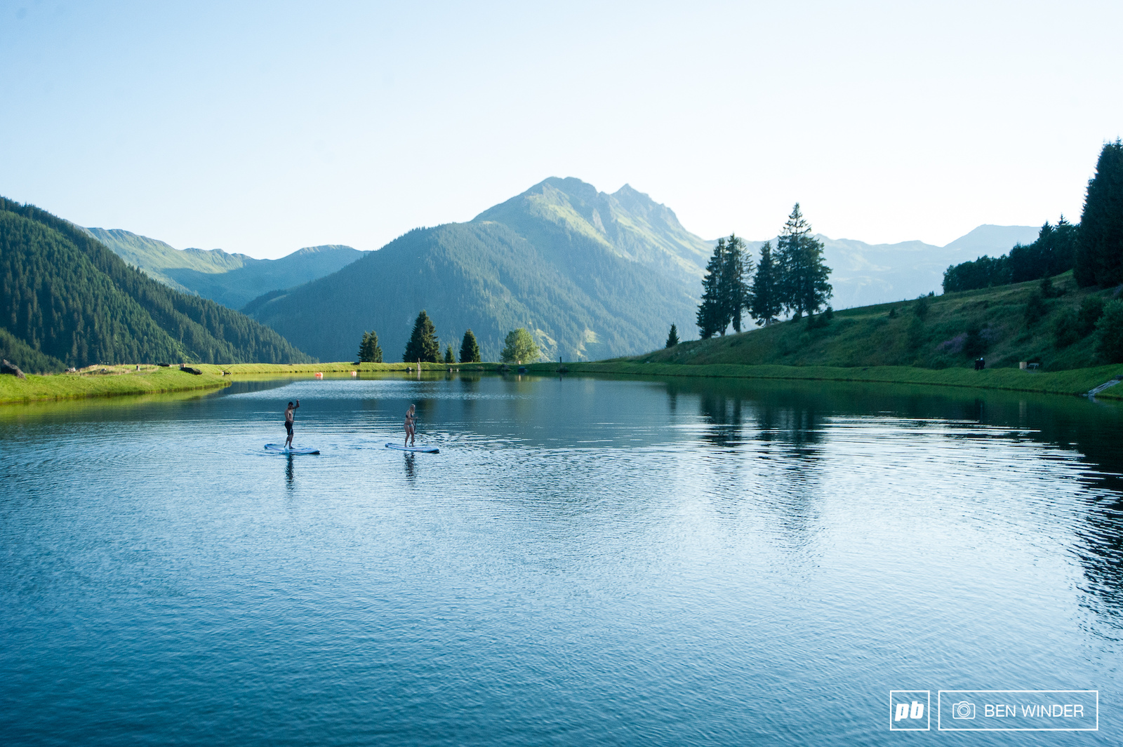 Paddle boards mountains and lakes. What more could you want