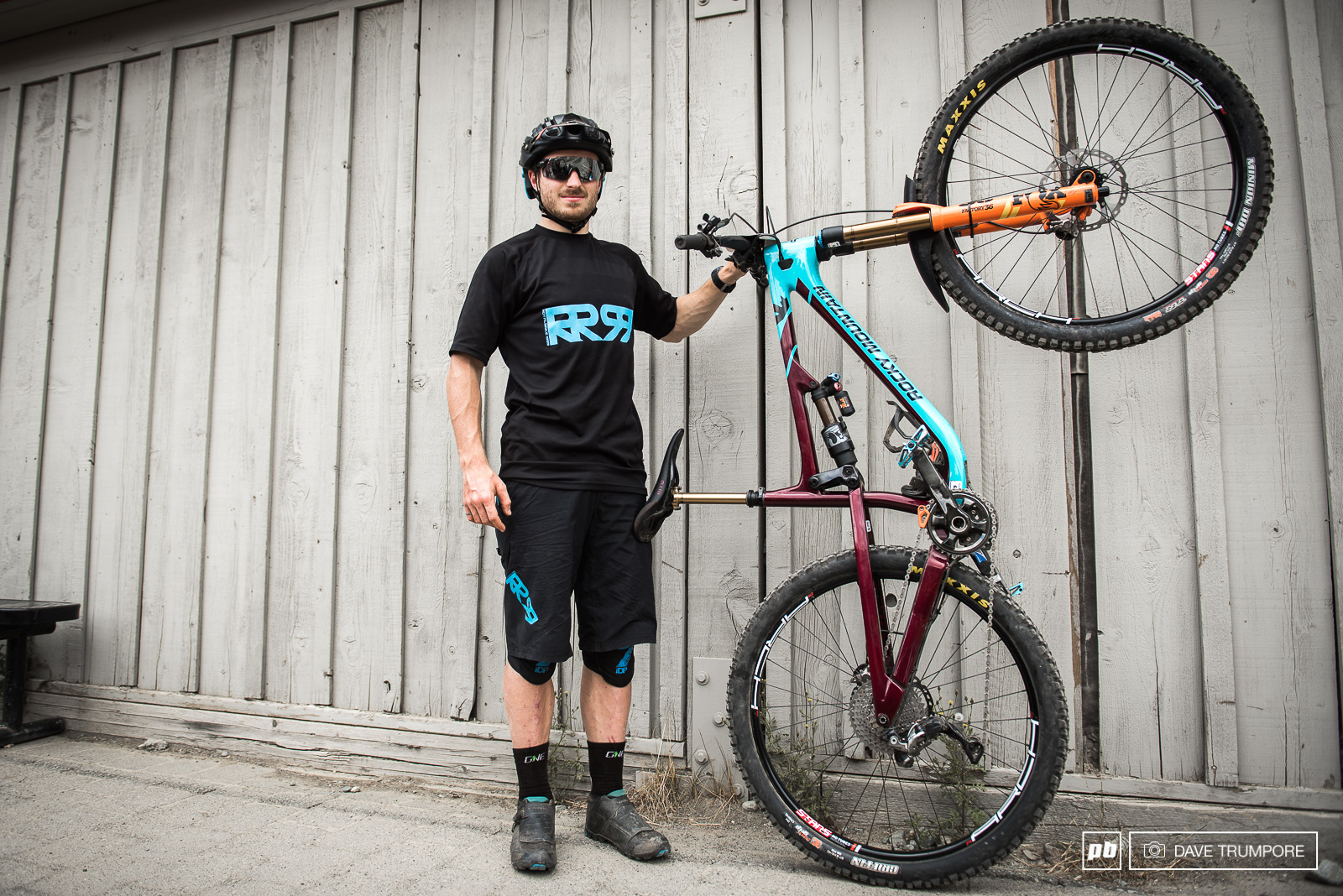 Jesse Melamed and his Rocky Mountain Altitude setup for the Whistler EWS.