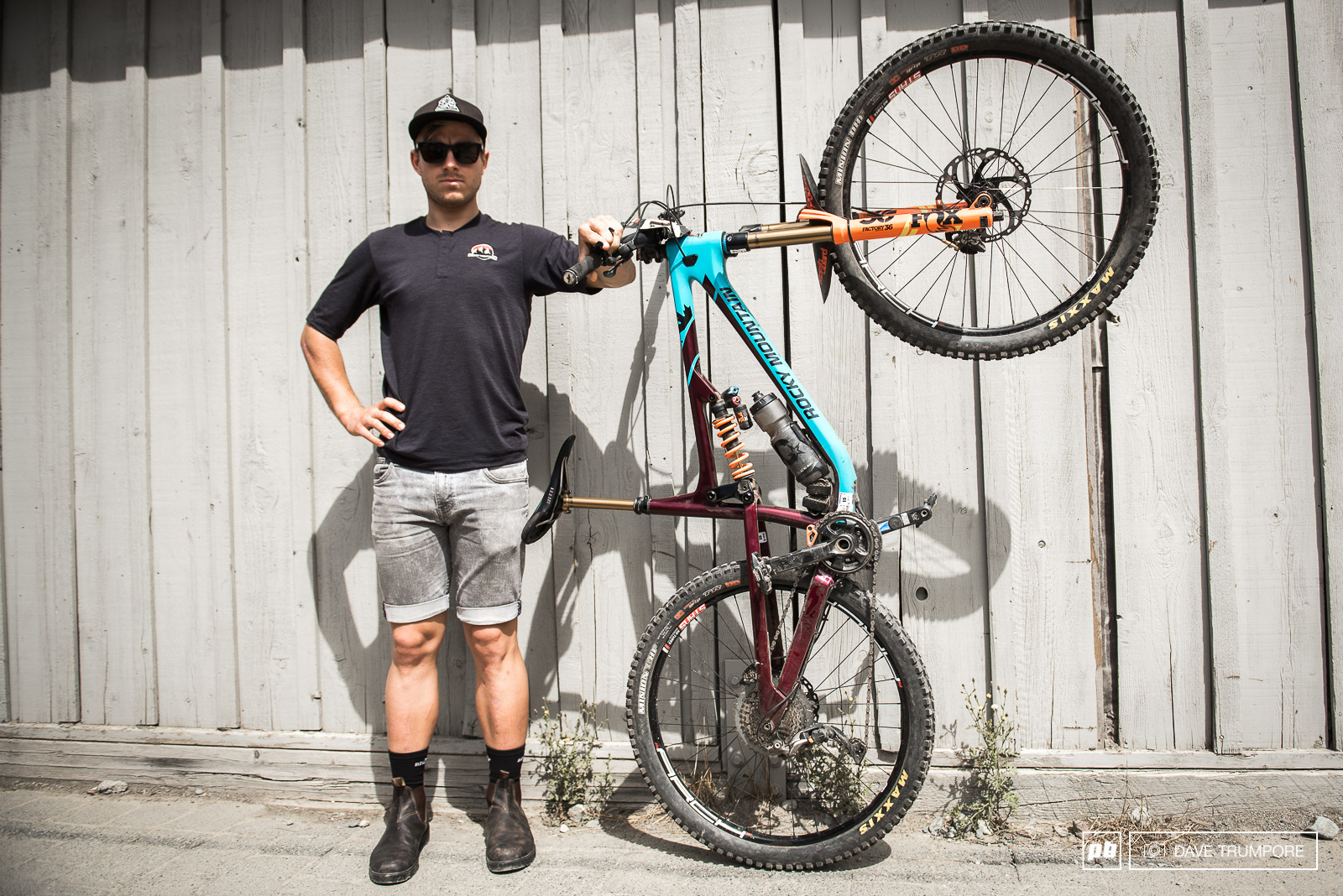 Remi Gauvin and his Rocky Mountain Altitude setup for the Whistler EWS.