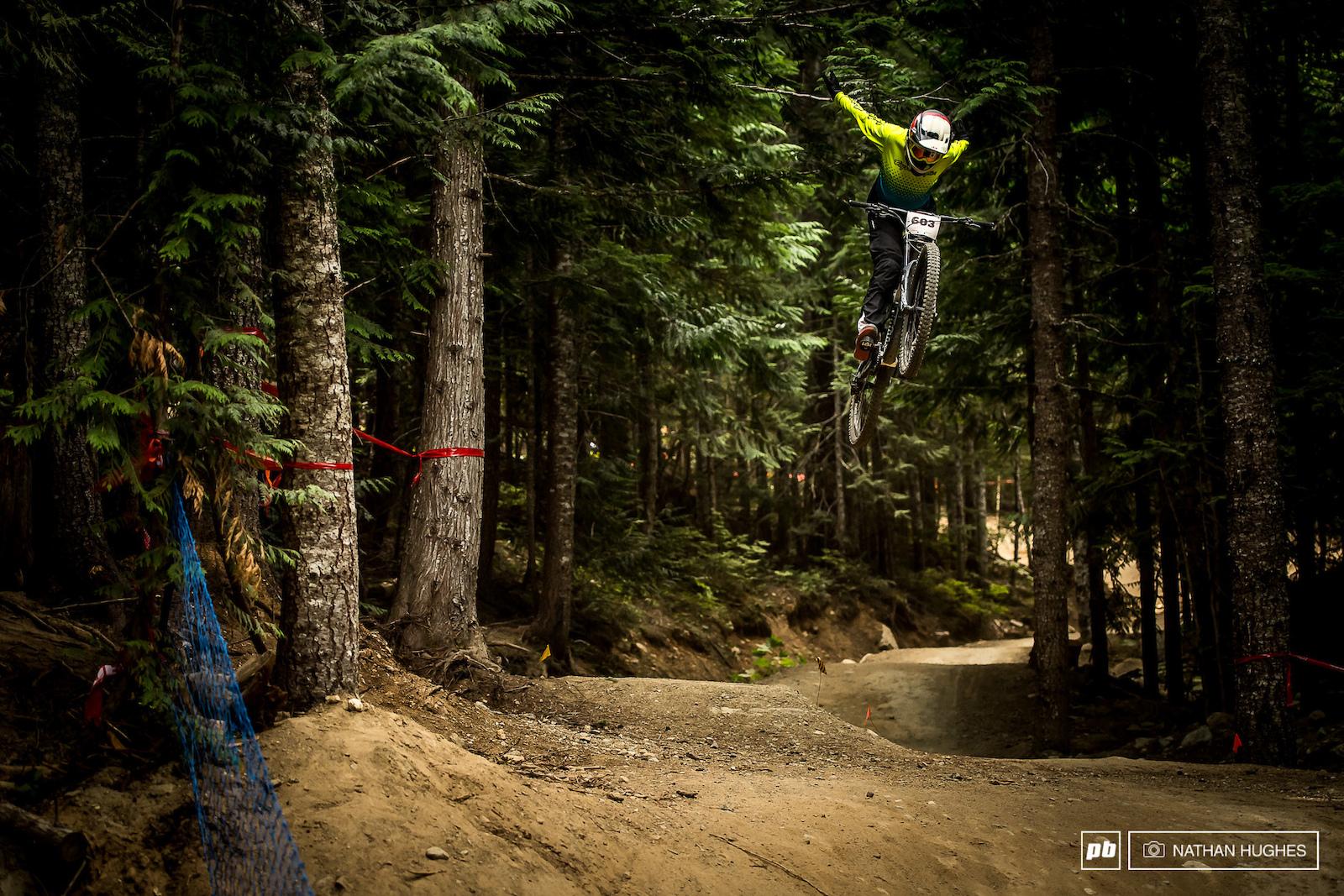 Daniel Gomez Serran from Madrid riding free.