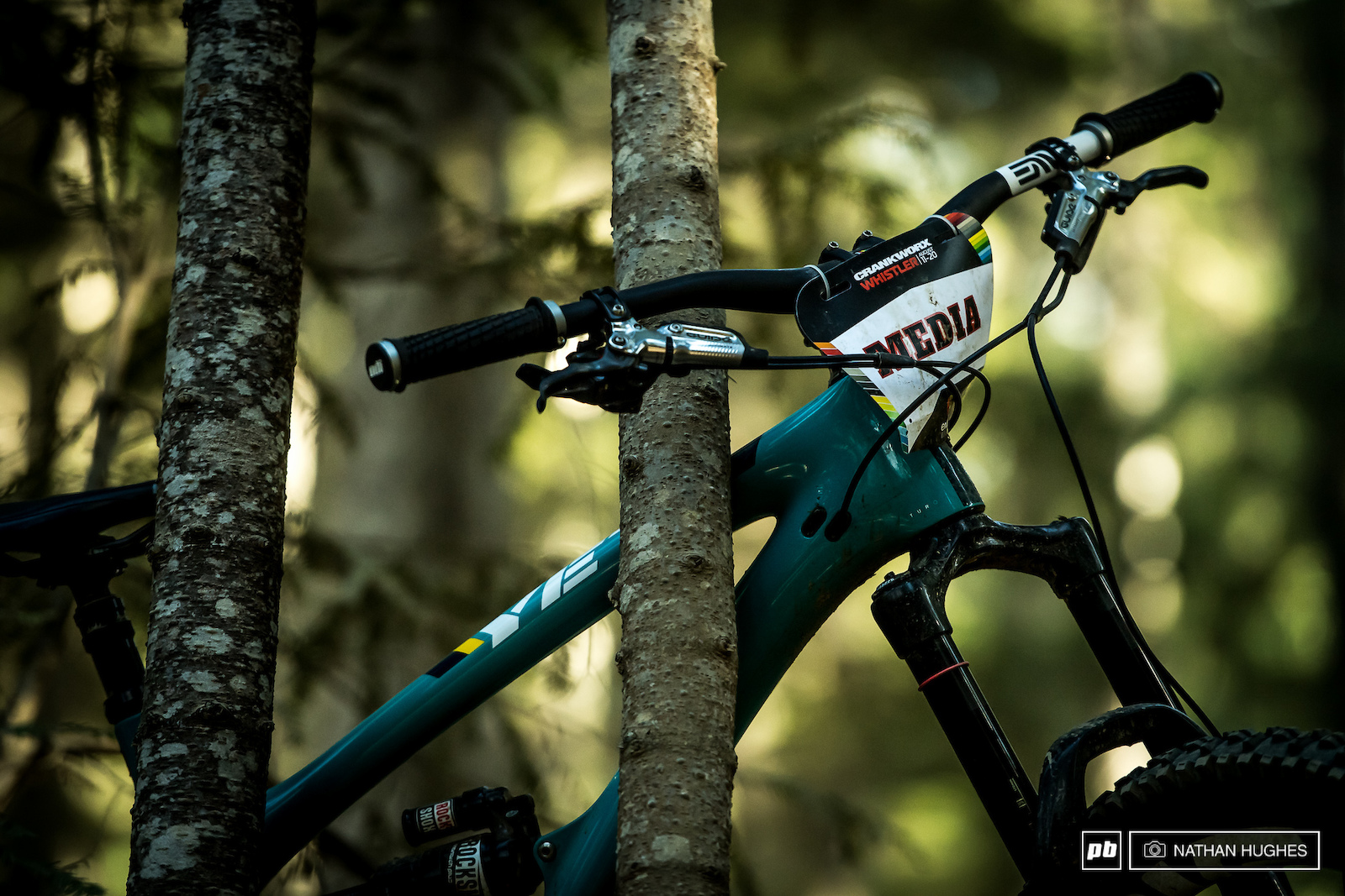 Another day another race to hunt down in the forest of Whistler Bike Park.