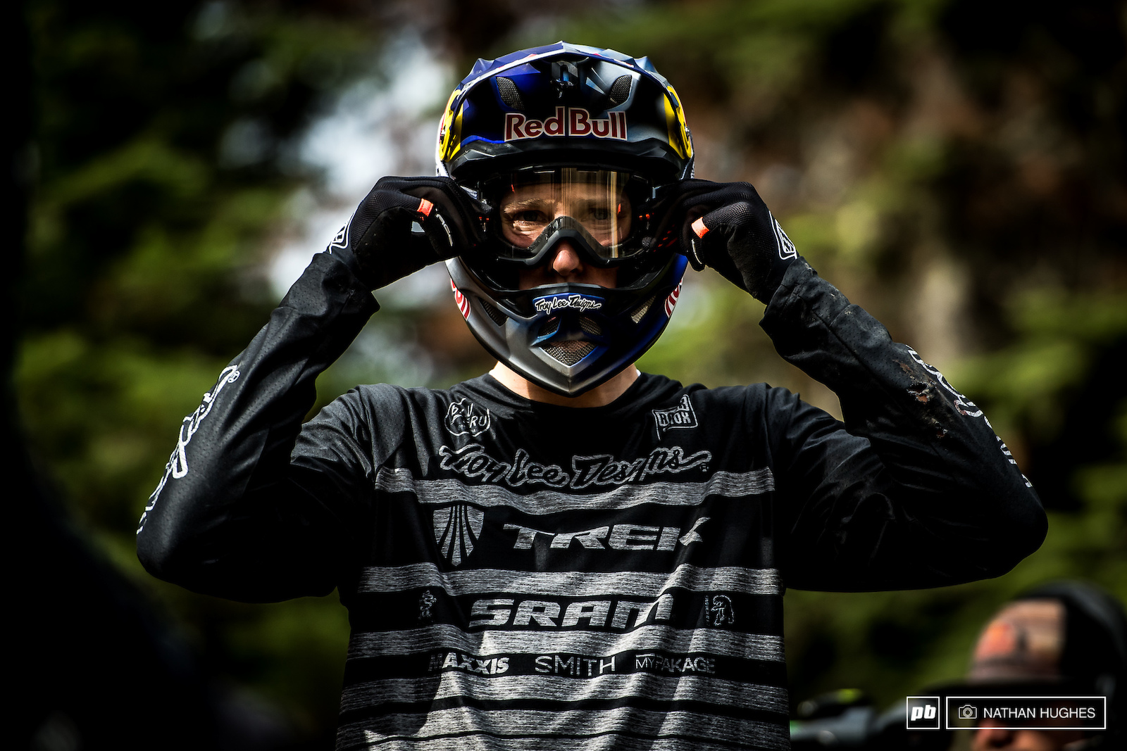 Semenuk tweeks the goggles for the first and last time at a Crankworx event this season.