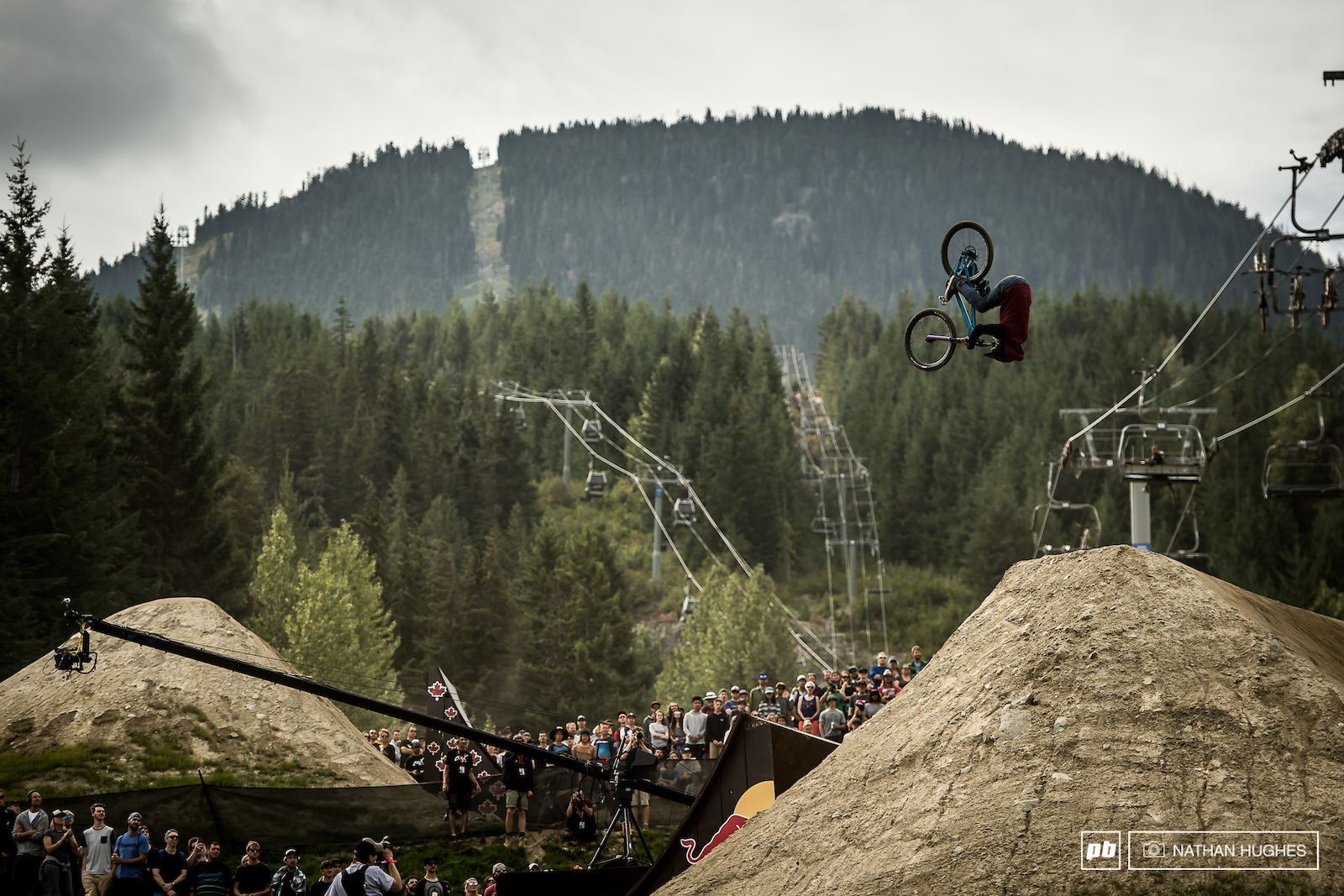 Diego Caverzasi on a front flip rampage that claimed him 6th place.