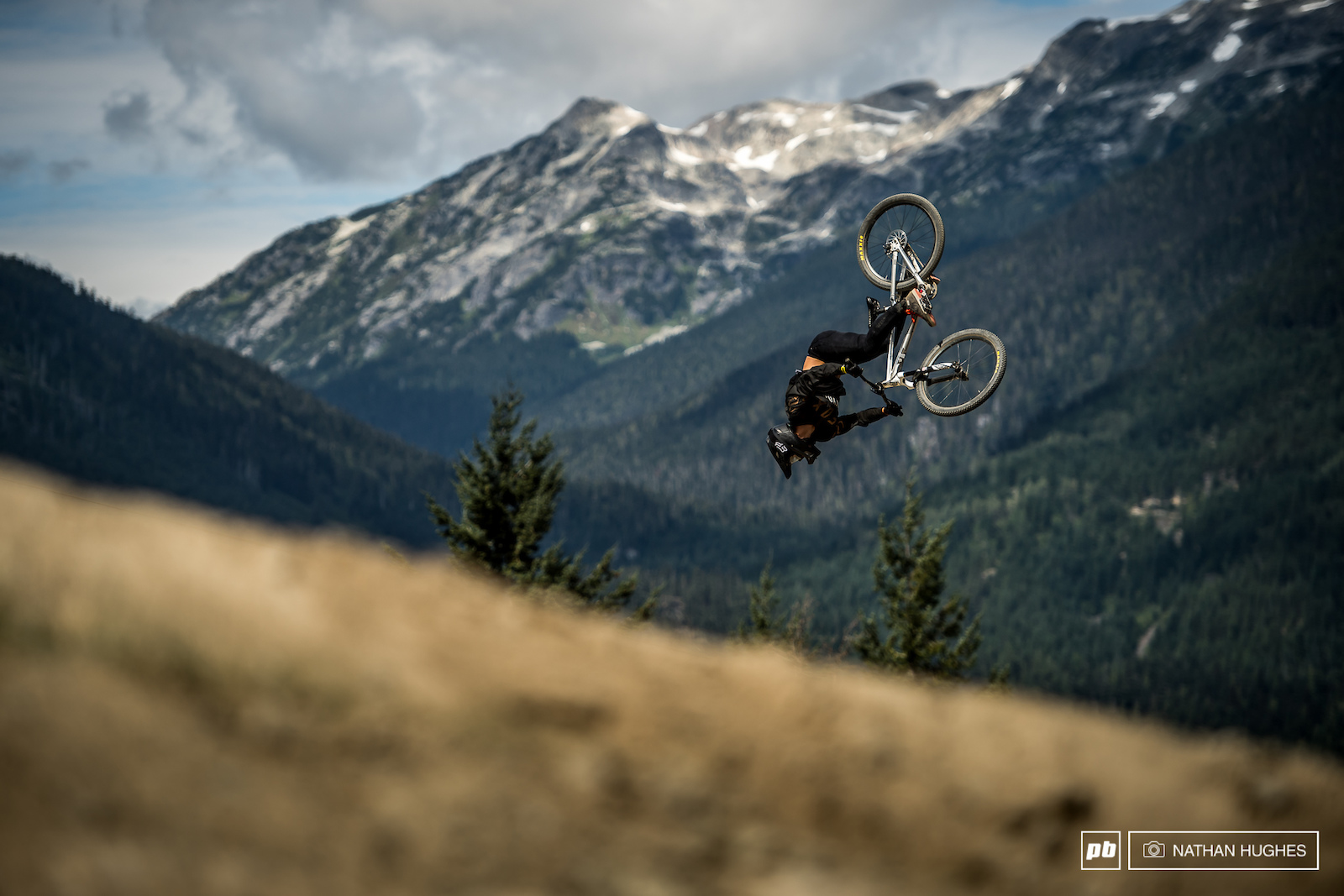 Nico Scholze is yet to put a big score on the board at Crankworx but remains one of the most exciting riders to watch with some insane tricks up his sleeve.