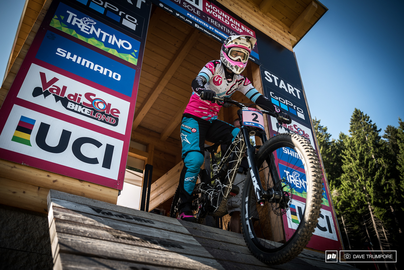 Tracey Hannah drops in to get things going in Val di Sole for World Cup Finals.