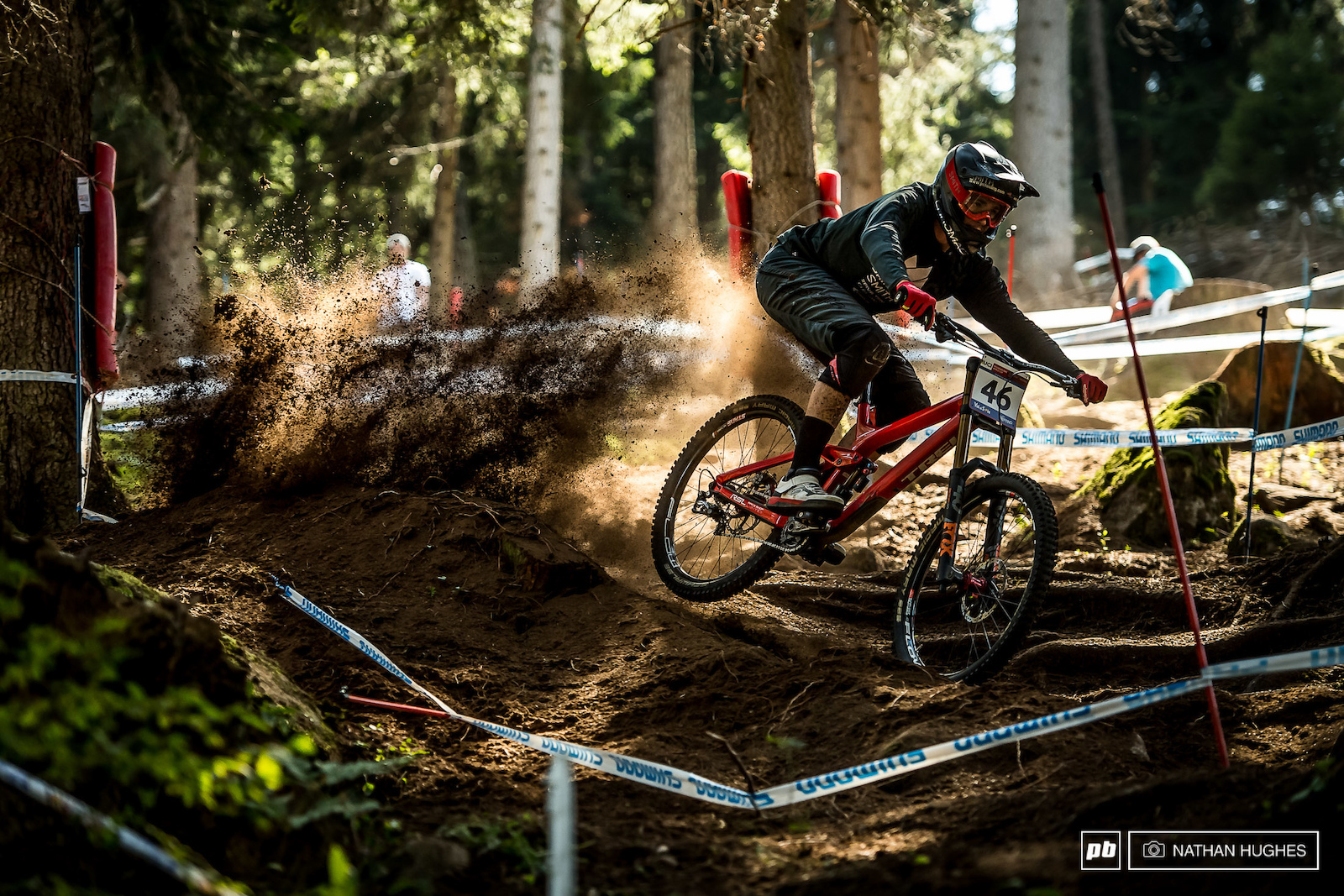 Dakota Norton blasting berms for a casual top 20 TT.