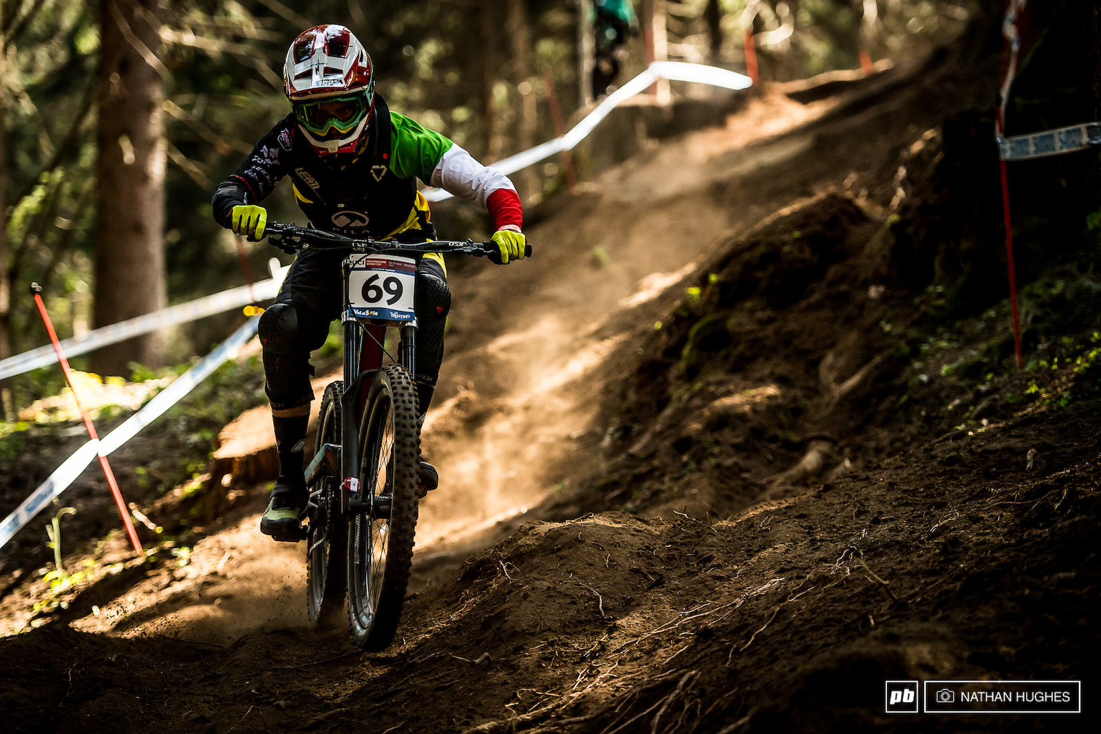 Italian national champ Francesco Colombo romping through his home woods.