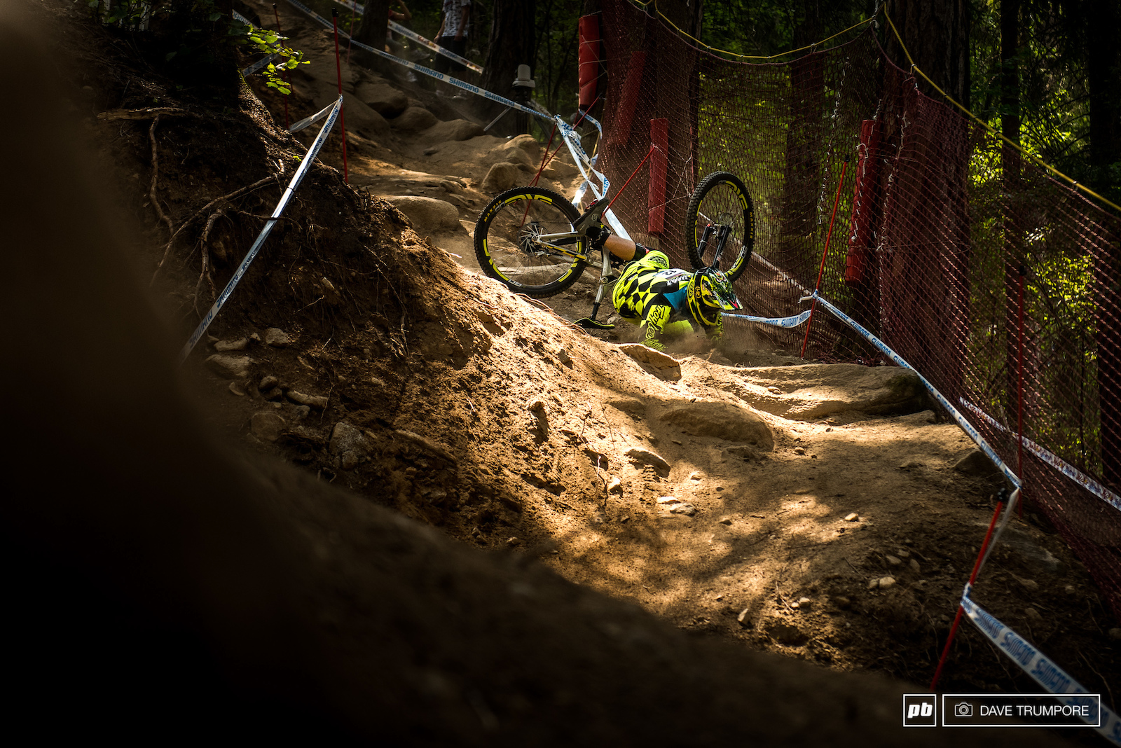 Dean Lucas had top 10 splits the whole way down until he put his front wheel in the wrong spot in the final steep chute.
