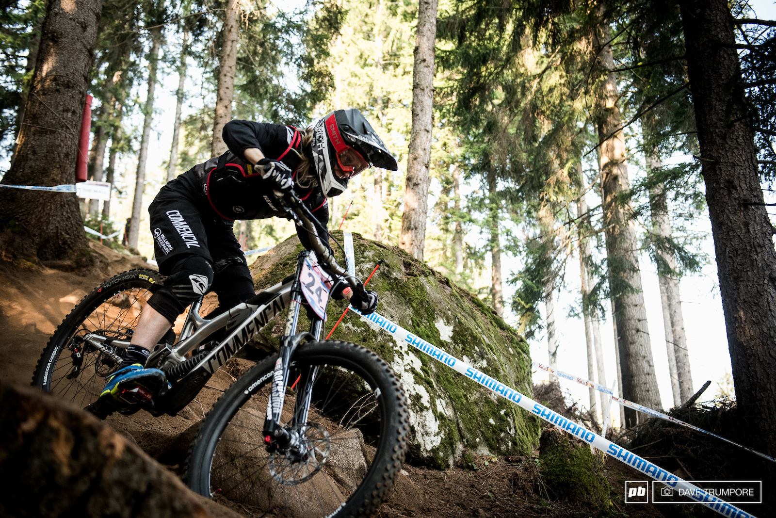 EWS World Champion Cecile Ravanel would finish in 9th after being held up trying to pass the rider who started in front of her.