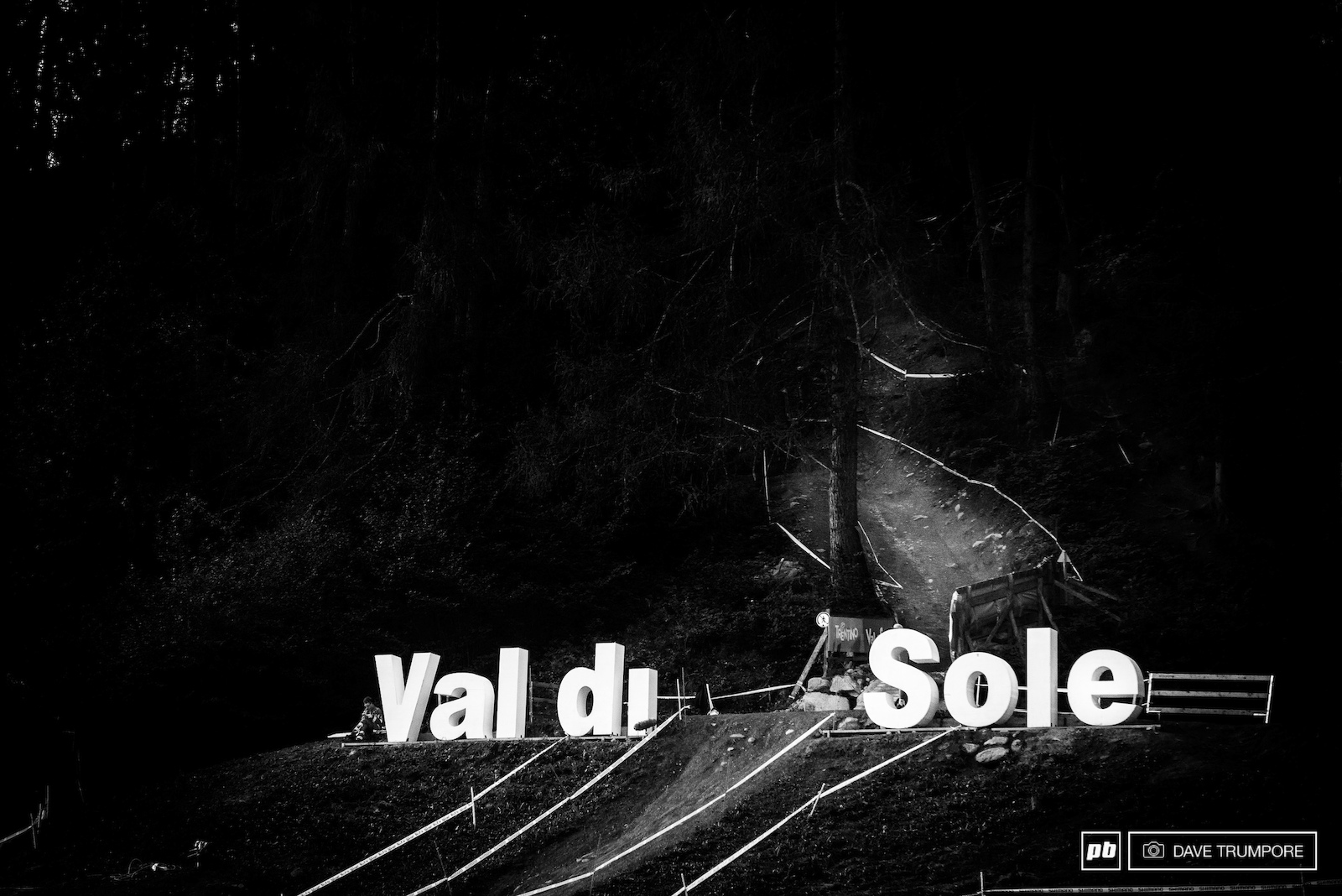 In those woods lays the Black Snake of Val di Sole. The most brutal track on the World Cup circuit.