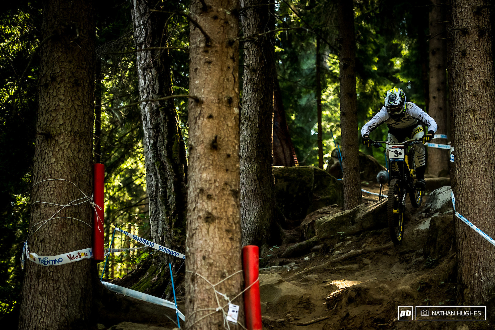 Troy Brosnan sharking his way through the woods for 4th.