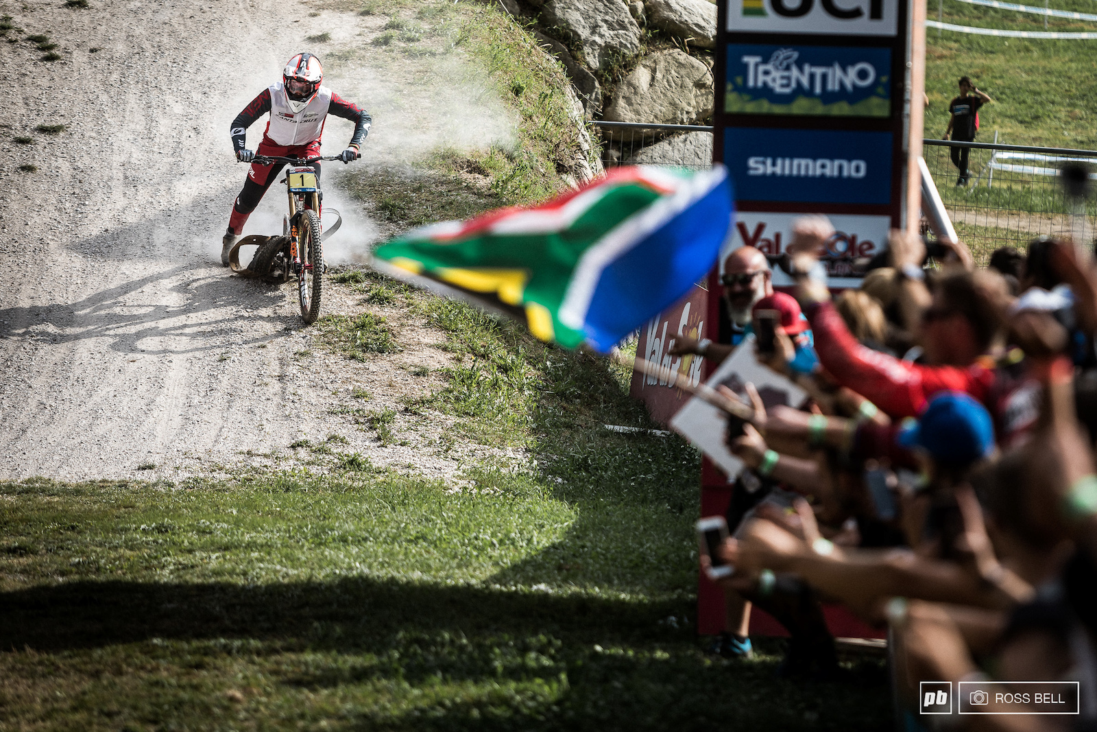 A bitter pill to swalllow Minnaar was riding with determination and passion all weekend.