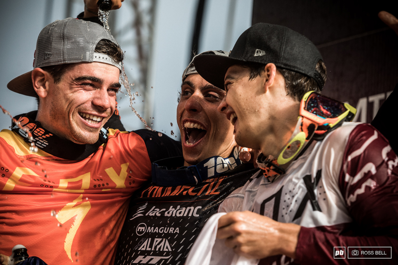 What a day for these three flying Frenchmen to be alongside each other on the podium.