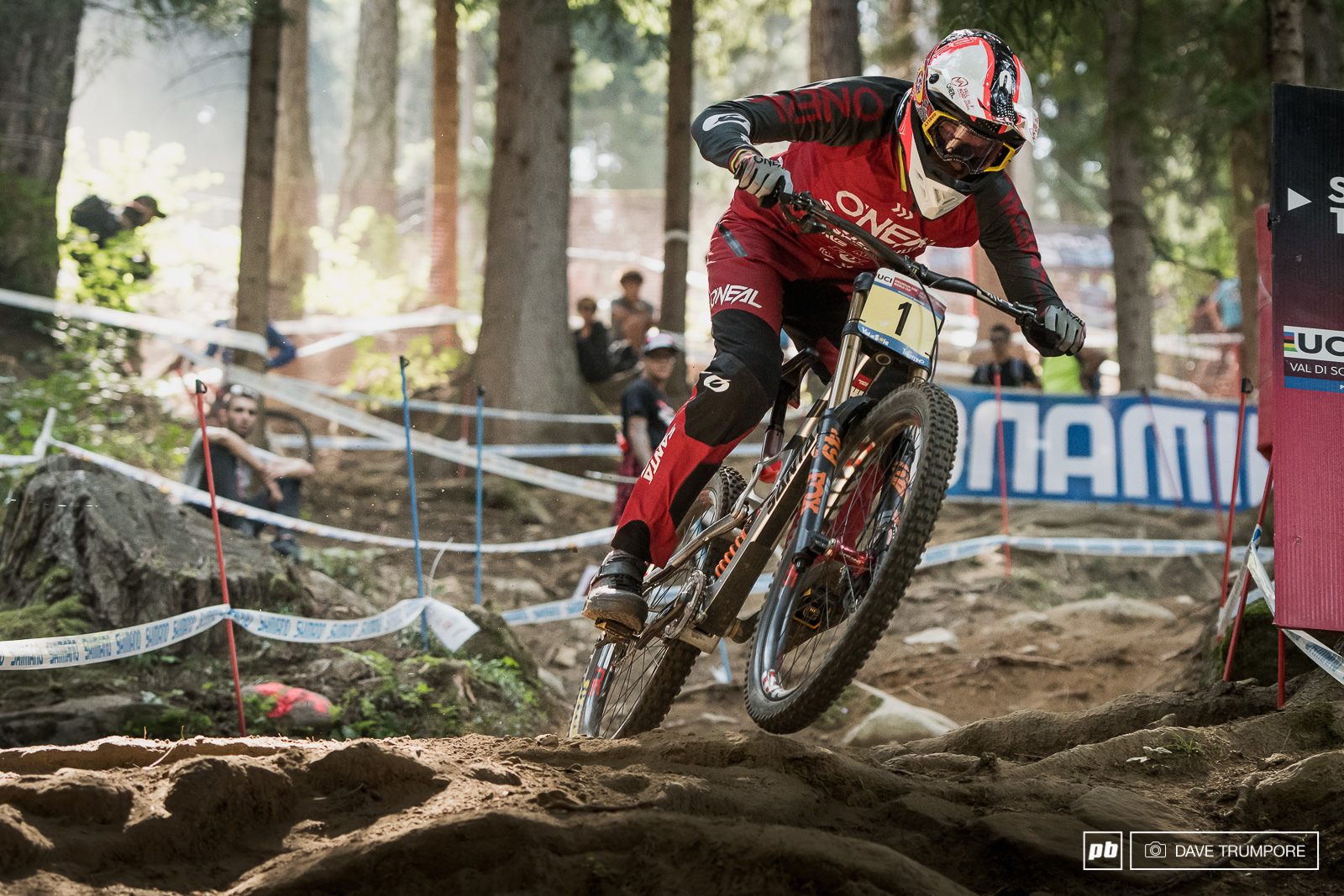 Greg Minnaar was looking like the man to beat in practice but Val di Sole can be a cruel cruel place.