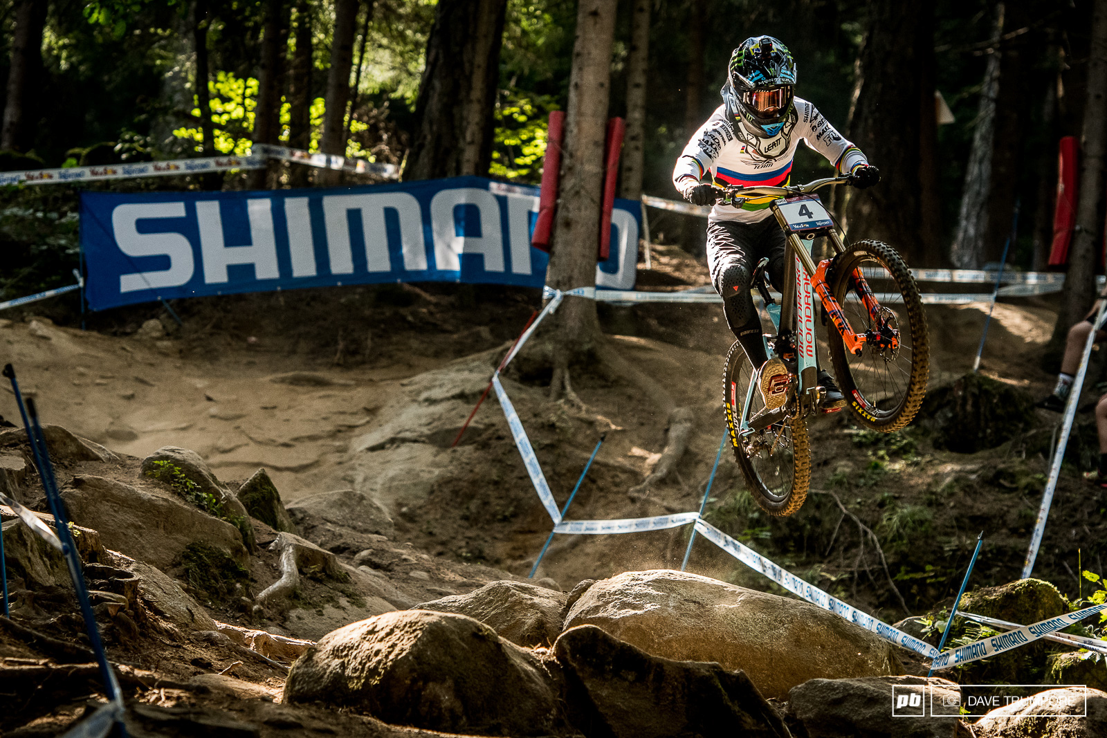 Danny Hart was going for it today but a crash in the woods put an ends to his hopes of victory.