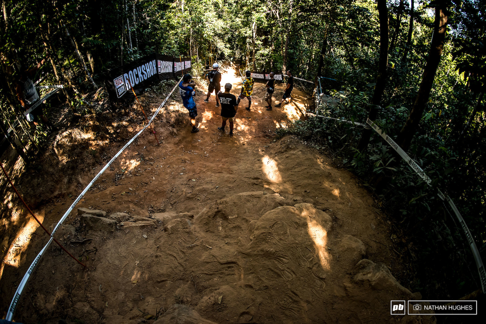 The final chute ever a problem area at race speed although preferable in dust to axle deep mud a la 2014...