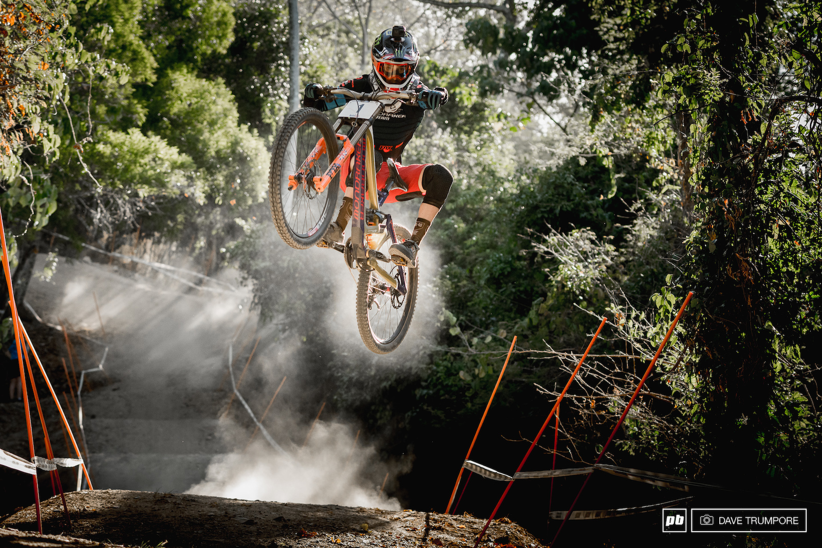 Some riders stay low over this jump but you can always count on Danny Hart to send it.
