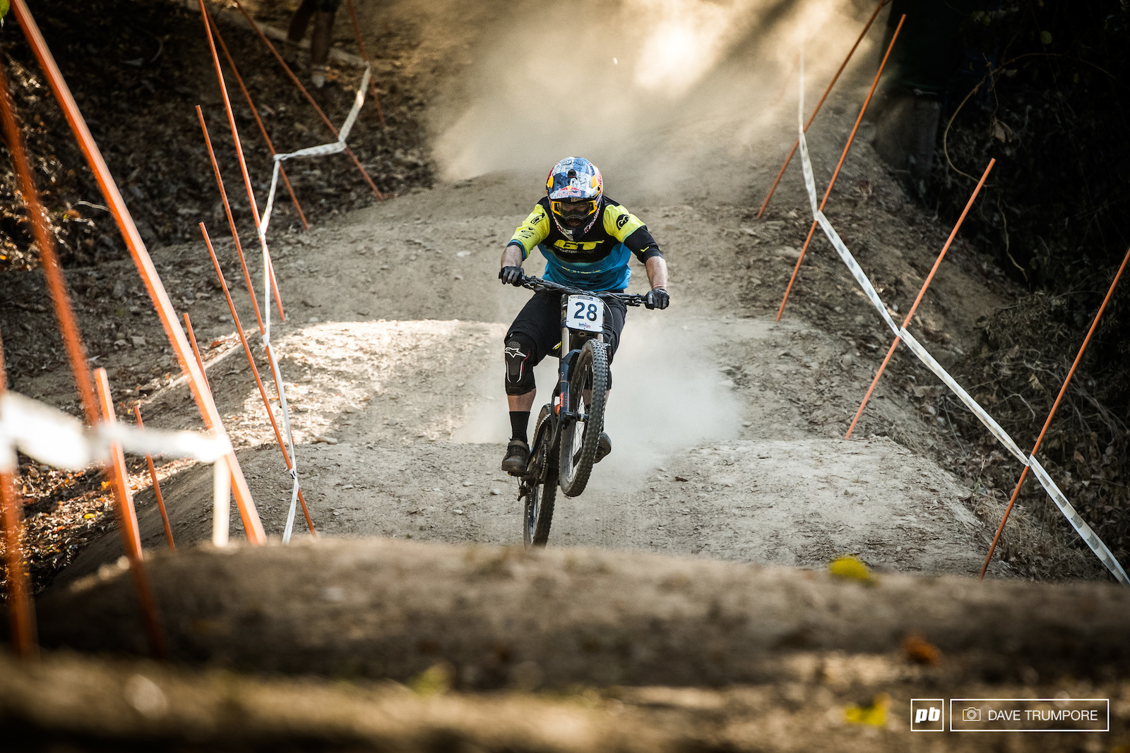 The Bulldog smashing the whoops halfway down the track.