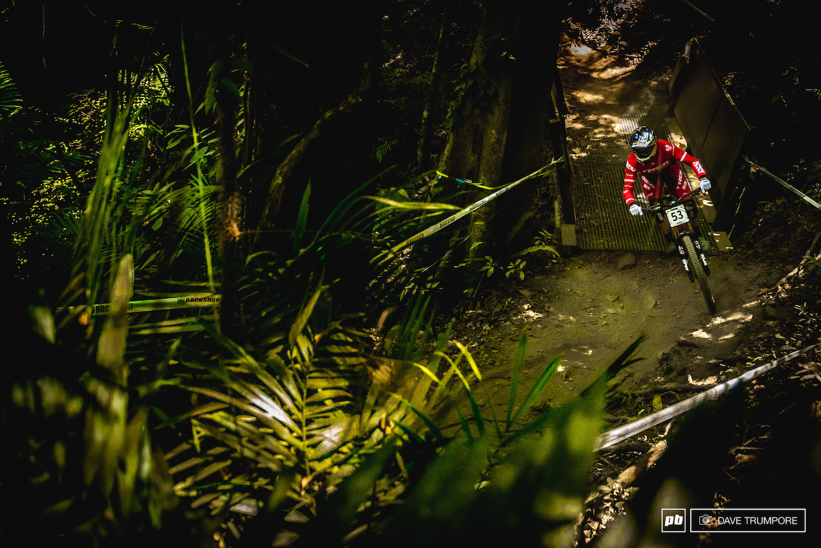 Gee Atherton through the jungle.