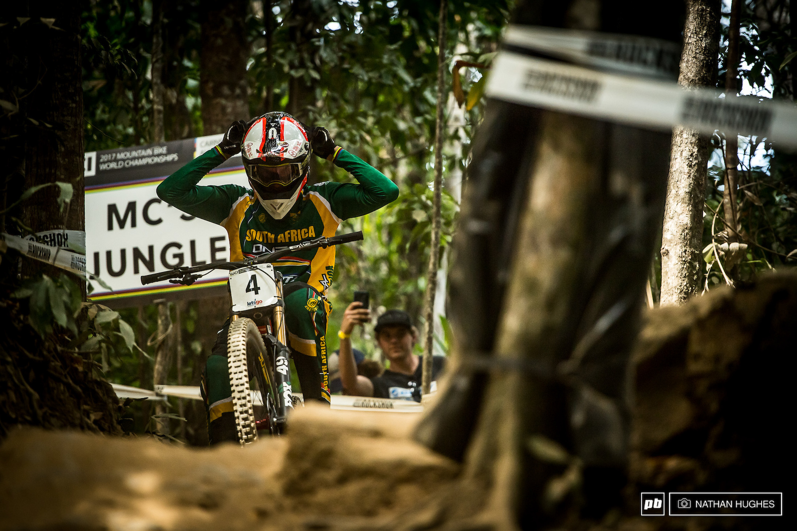 Last man left in the jungle today was Greg Minnaar scoping those last possible line tune-ups.
