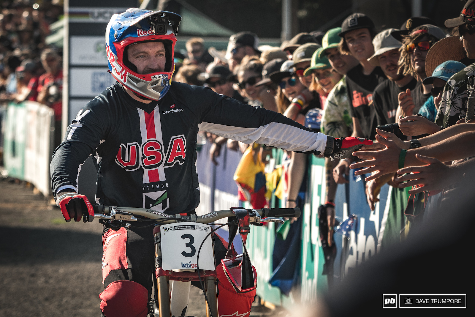 After grabbing the WC title a few weeks back Aaron Gwin finally got himself that elusive world champs medal.