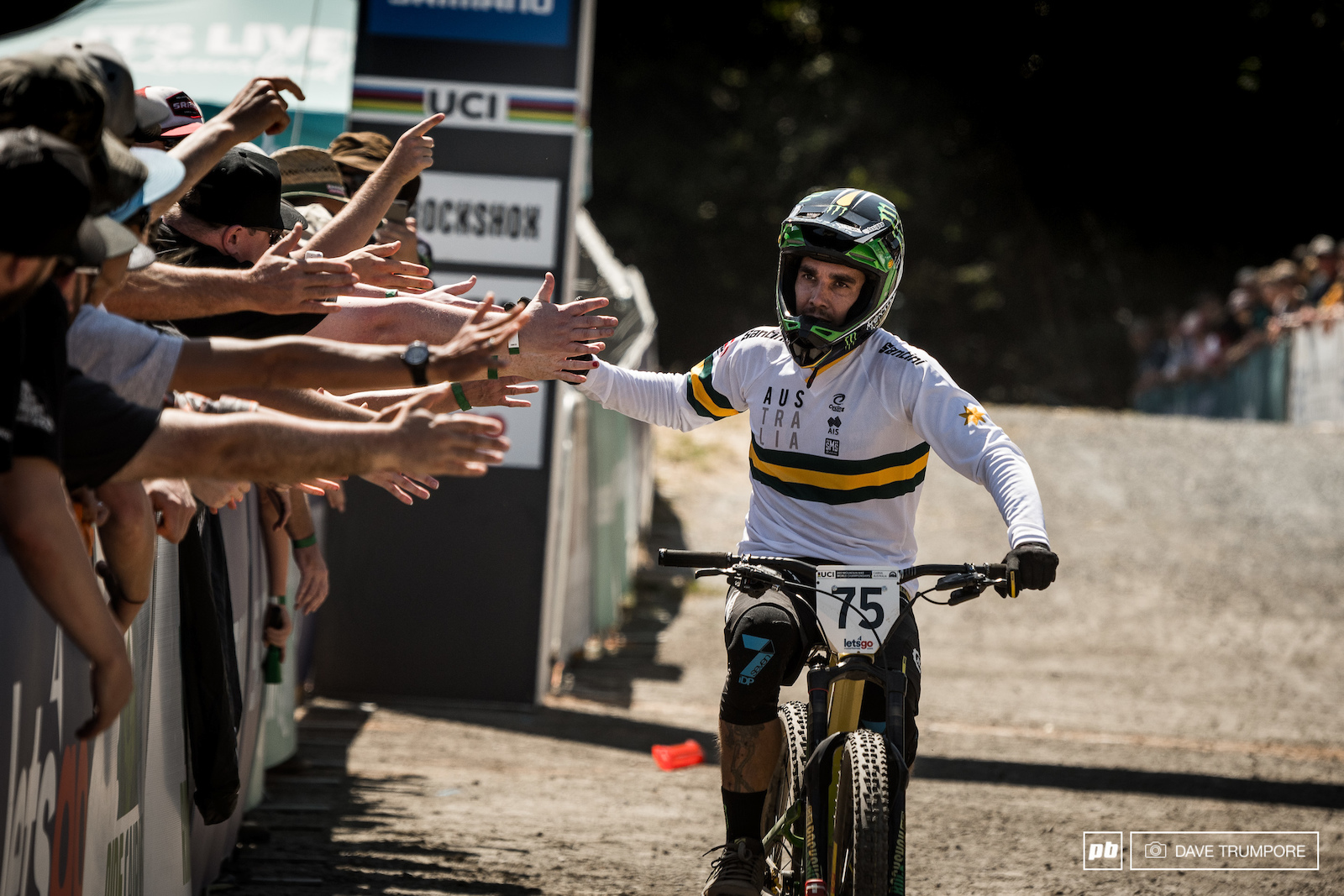 The man the myth and the legend that is Sam Hill in what is likely to be his last ever DH race sure did go out with a bang in front of the Aussie crowd.