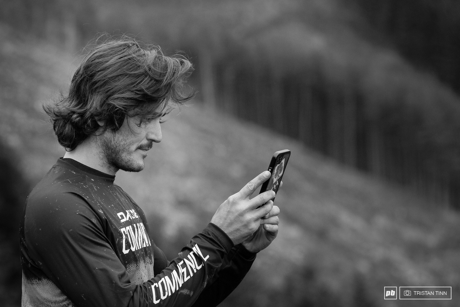 Yoann hard at work on the Pinkbike instagram story
