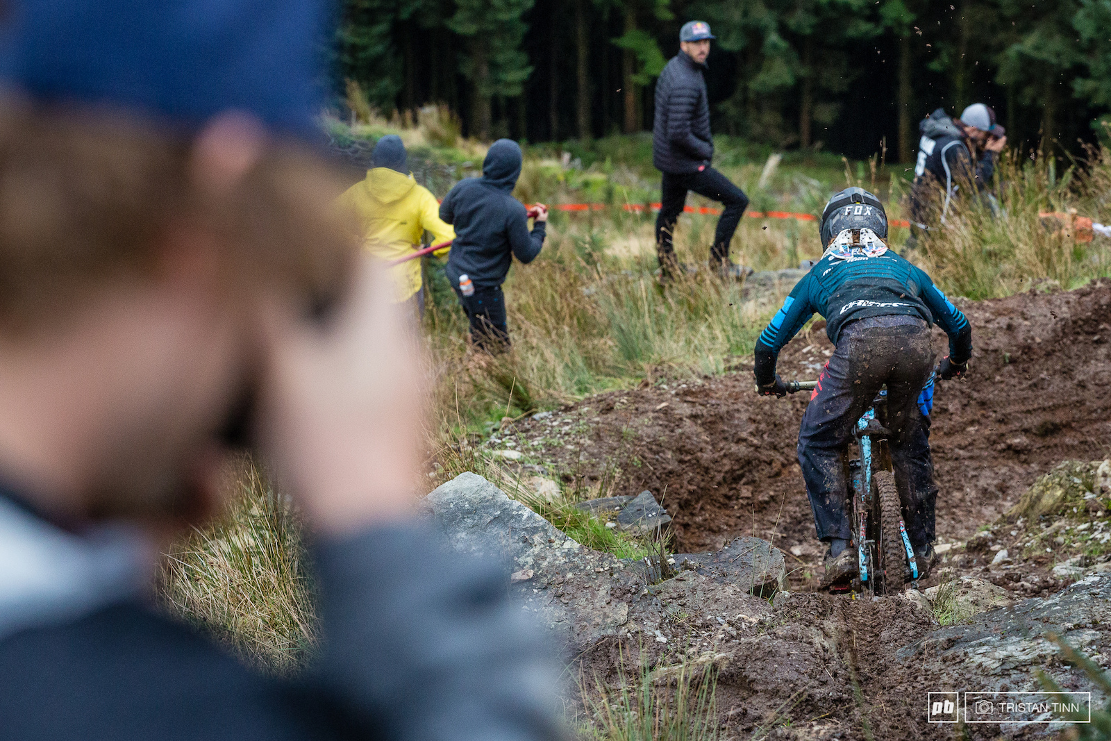 Laurie gets stuck in to a particularily slick section after the renegade step up