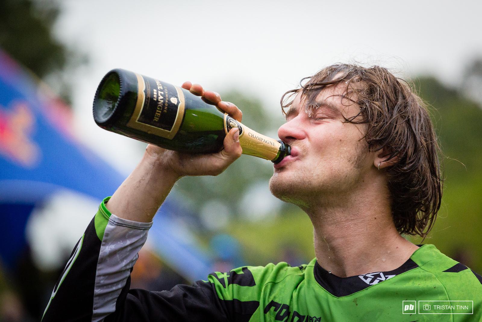 Craig enjoys the taste of victory