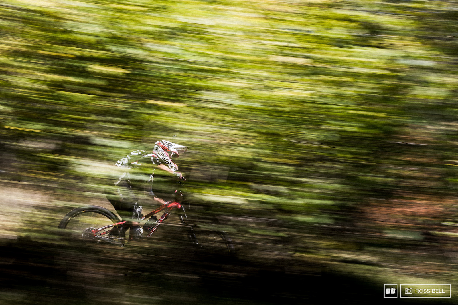 Isabeau Courdurier darting through the beech trees in Finale Ligure a couple of seasons ago.