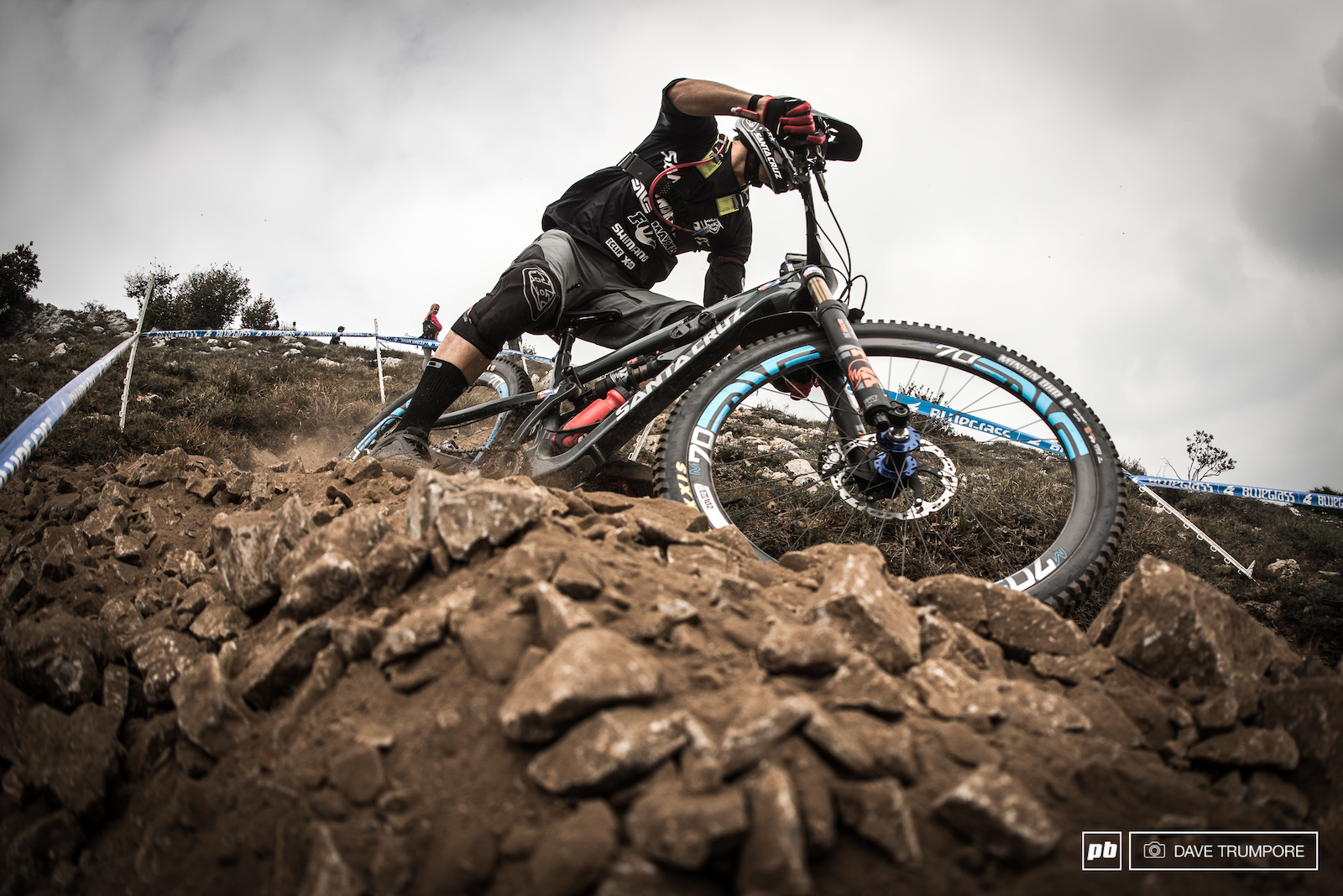 Luca Shaw is one on many World Cup DH riders who have traded the Alps for the Mediterranean this weekend.