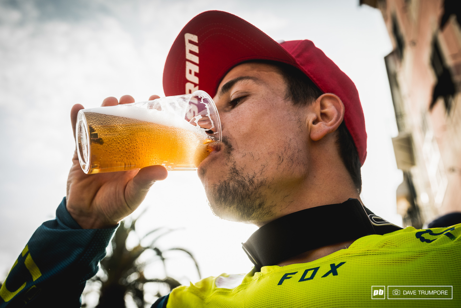 Damien Oton enjoys the taste of gold after taking his second career EWS victory.