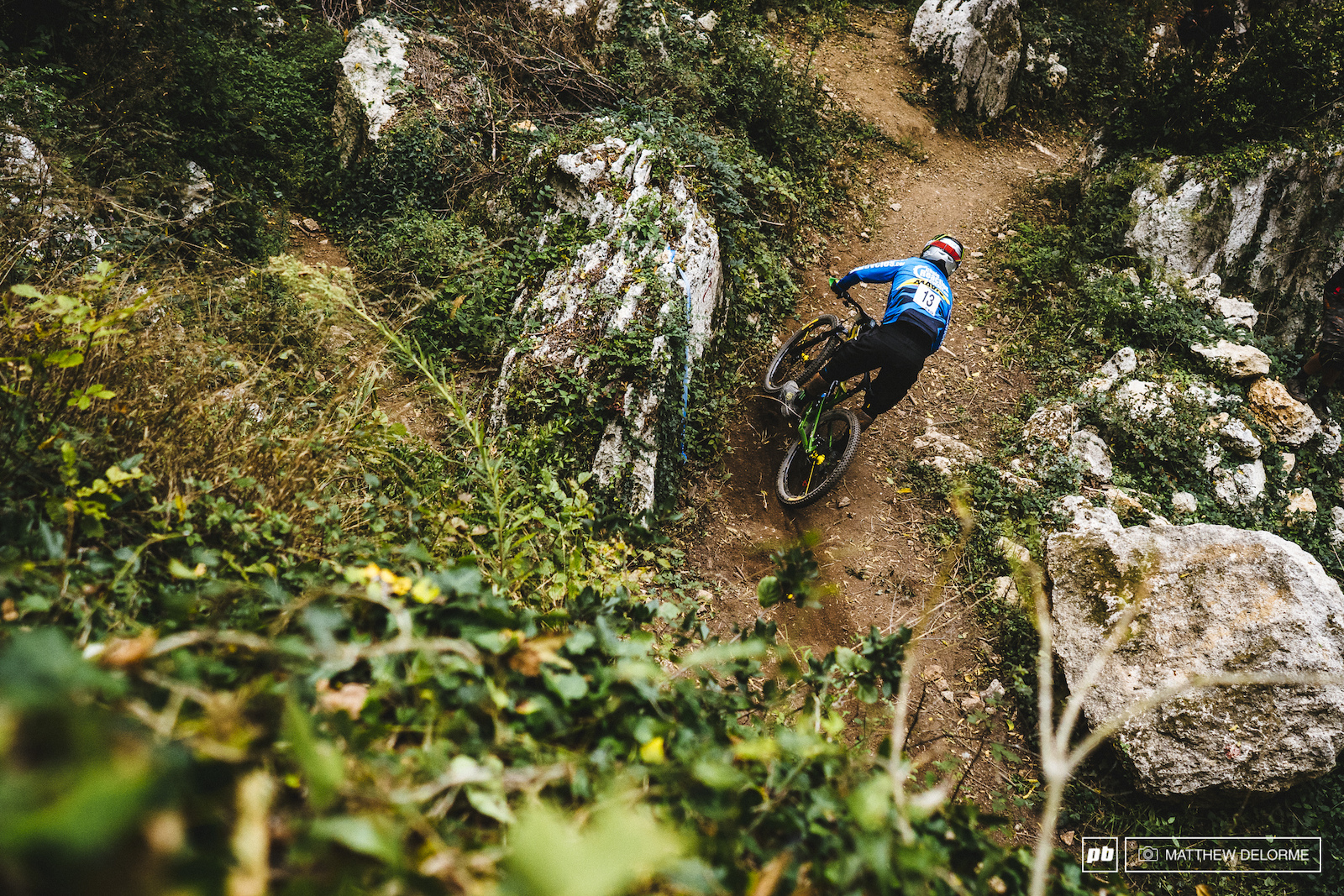 On the gas through ancient trails. Sam Hill keeps the pressure up on day two.