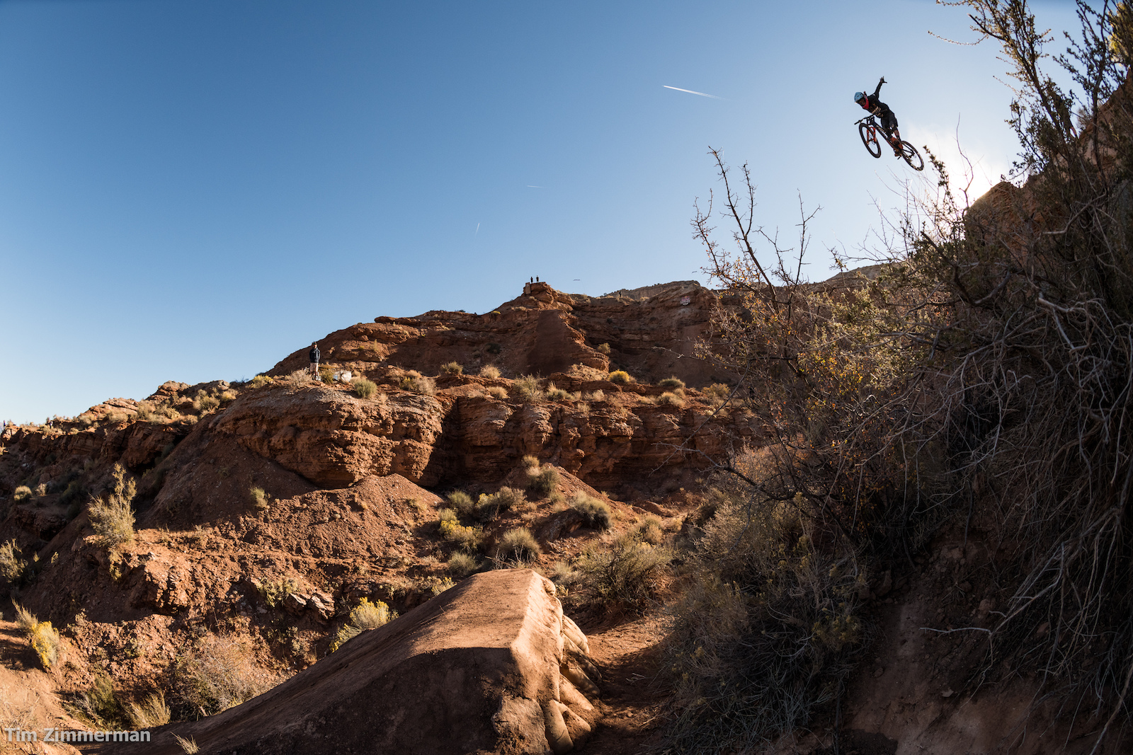 Brett Rheeder can step down without the use of a handrail. He can also hit a step down without using his hands.