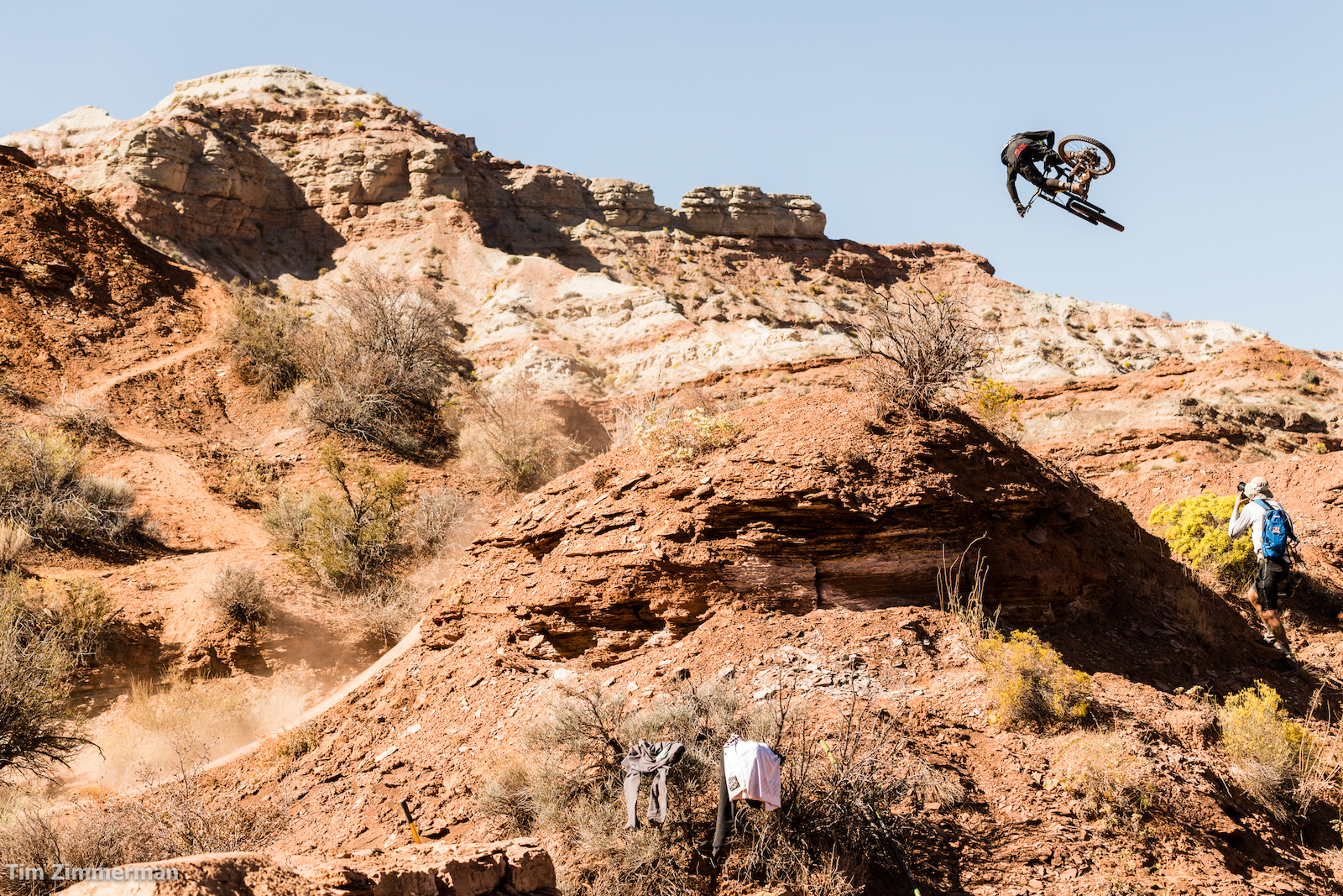 If Tyler McCaul had tied that laundry to his handlebars it would have aired out a lot quicker.