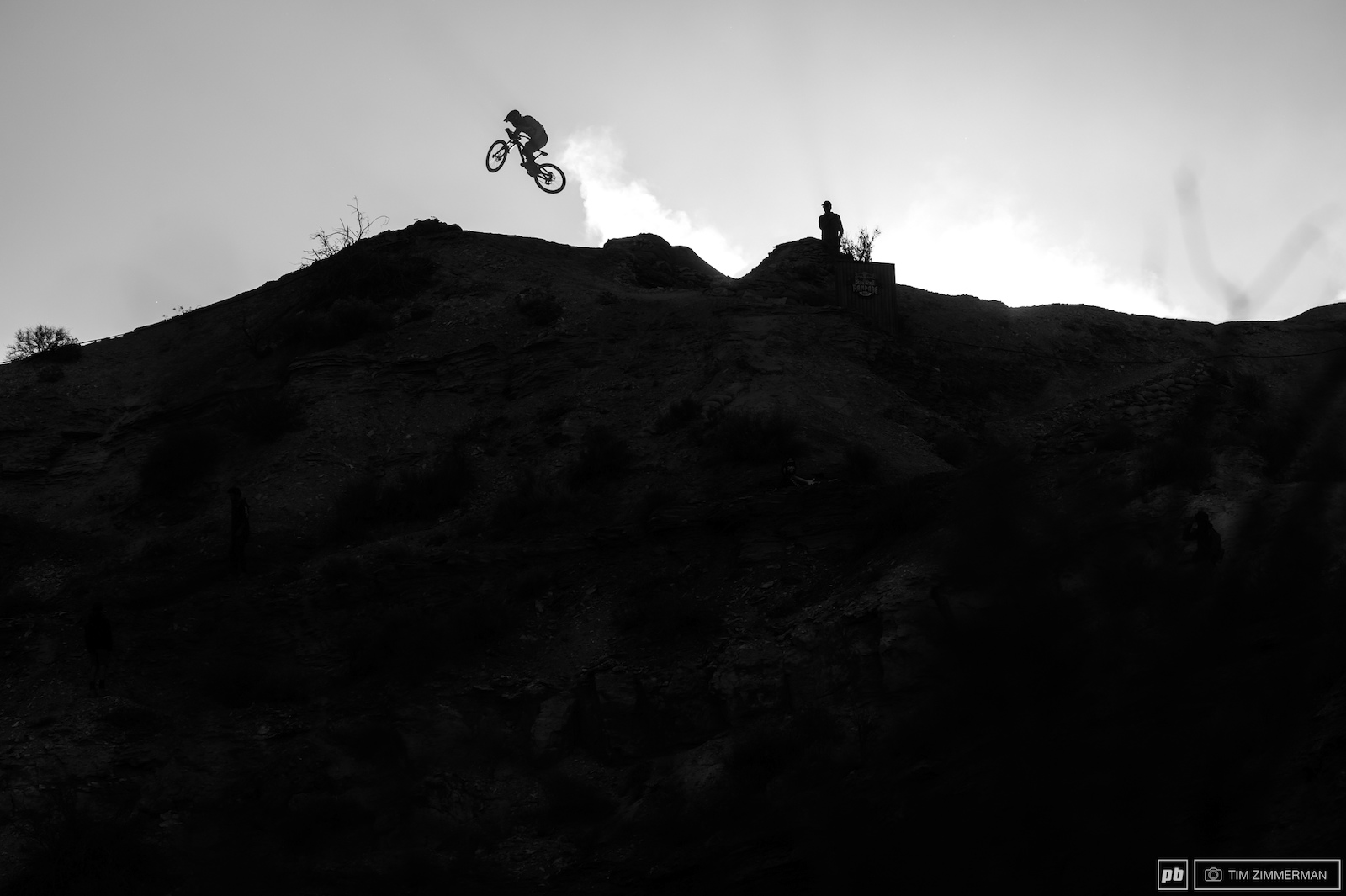 Kurt Sorge was one of the first riders at the top of the mountain today and the first to flow the ridgeline jumps.